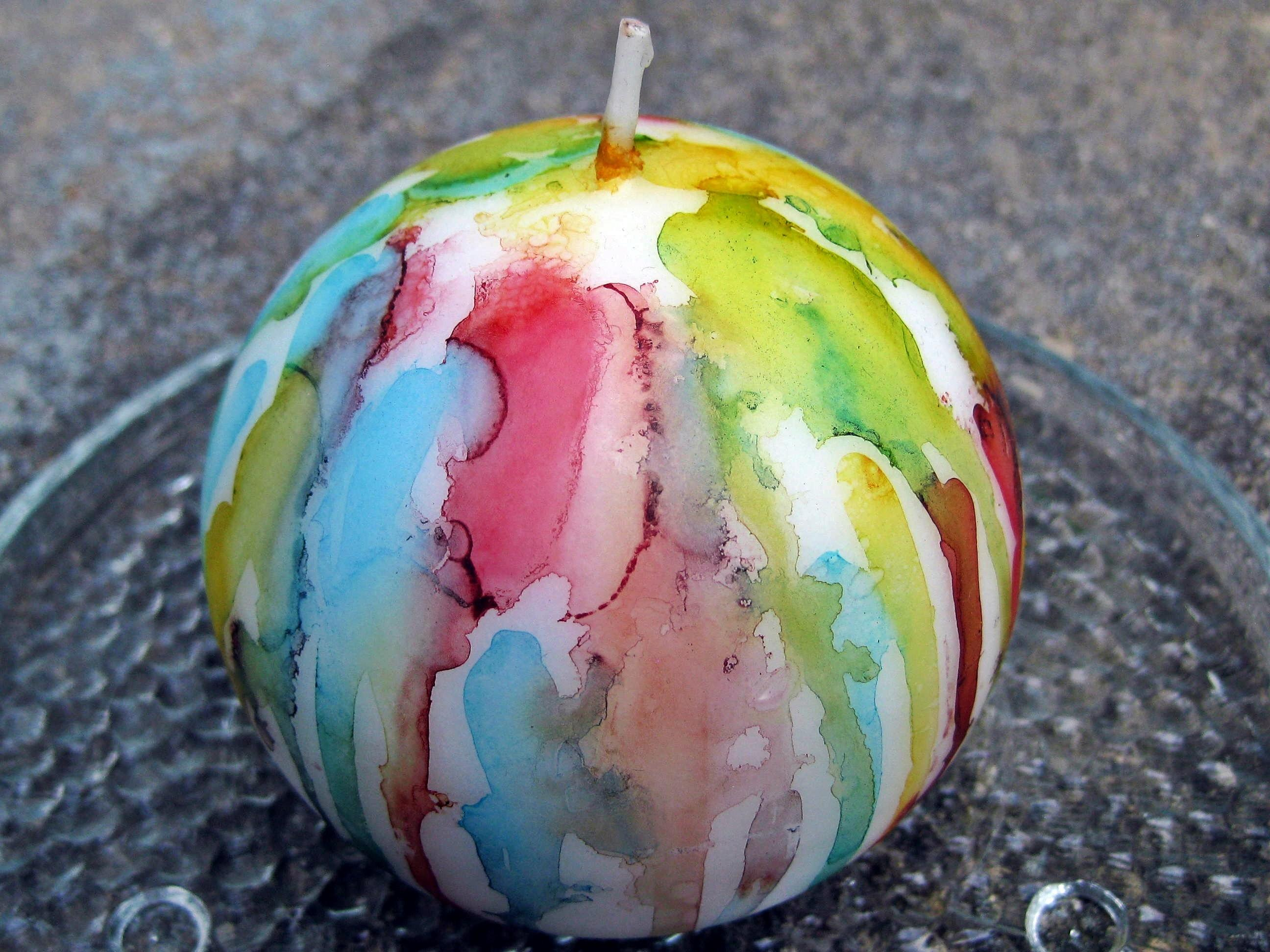 Alcohol Ink Candles Lulabelle Handicrafts