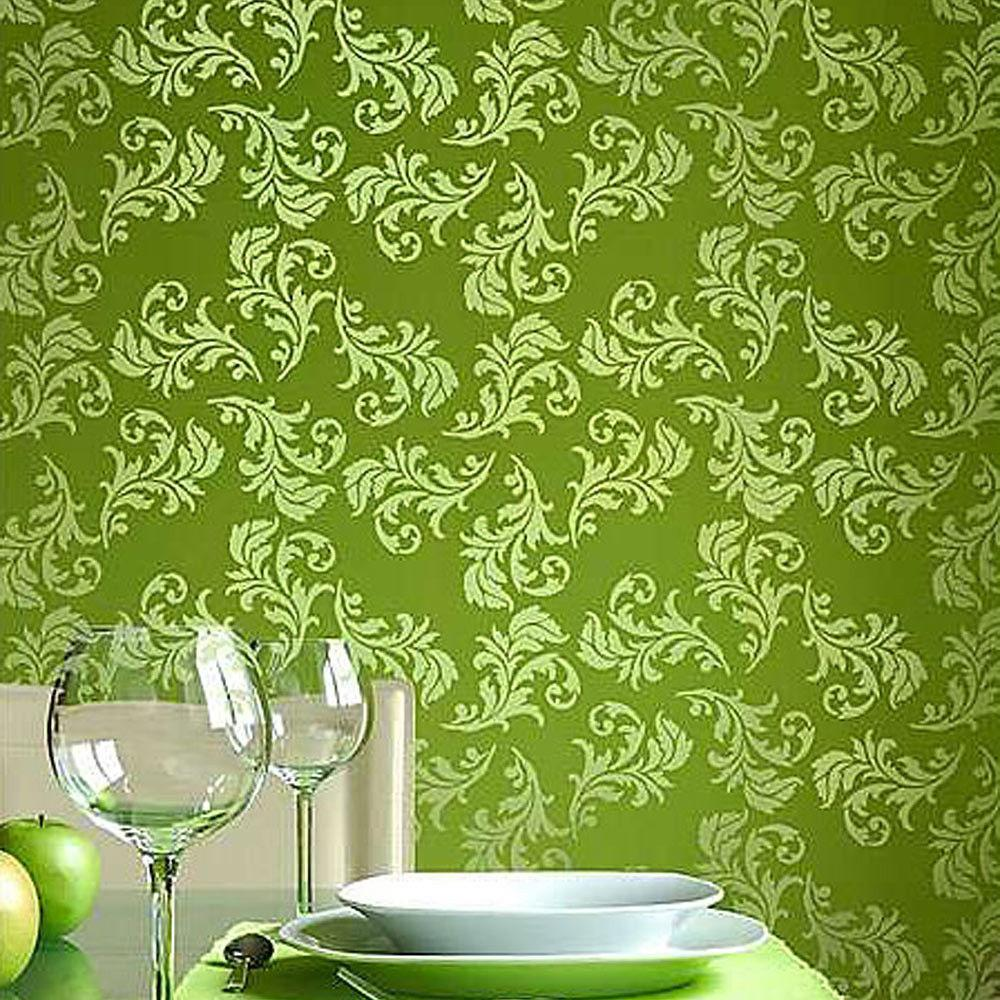 Alessa Scroll Allover Wall Stencil Pattern