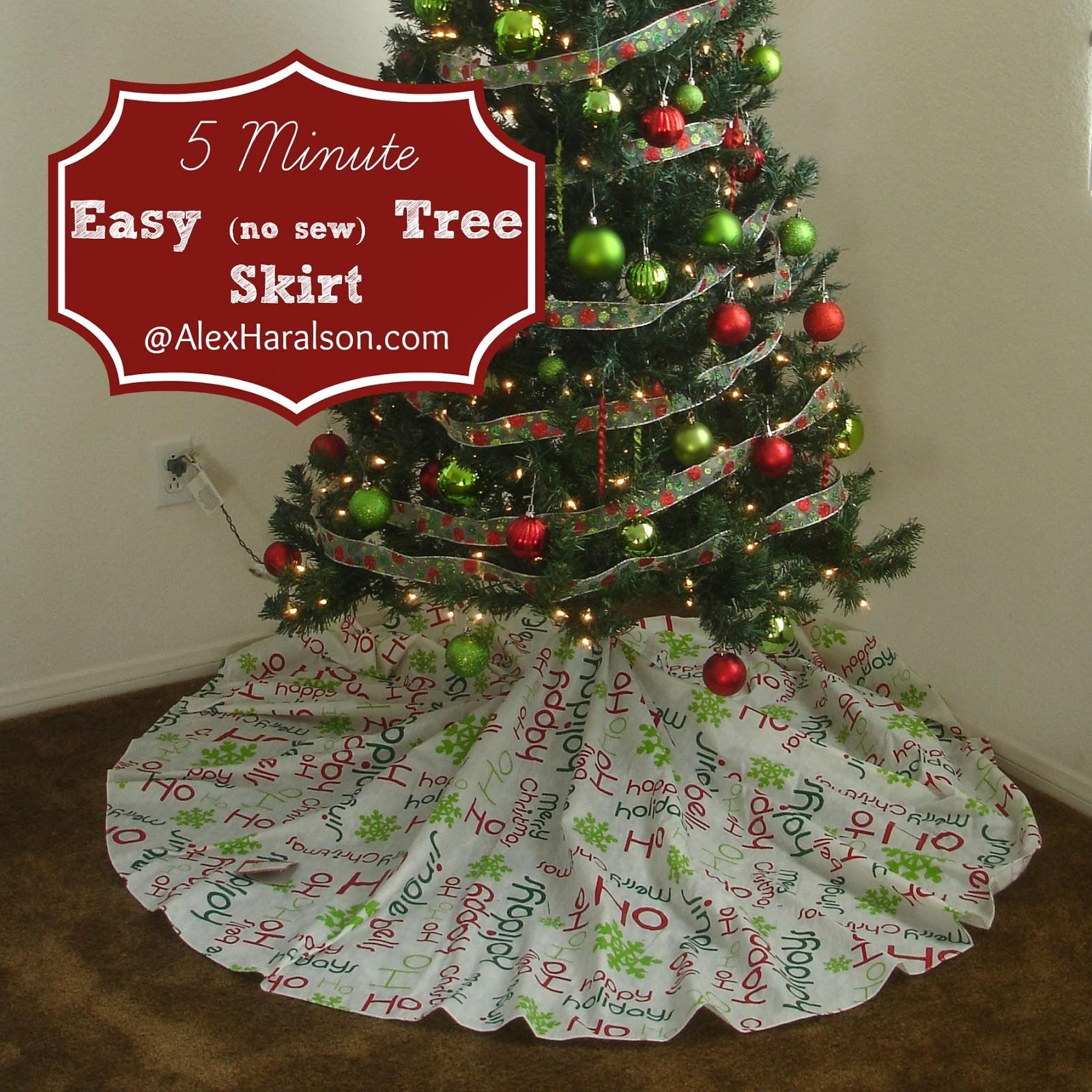 Alex Haralson Minute Easy Christmas Tree Skirt
