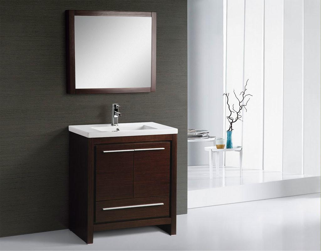 Alexa Inch Modern Bathroom Vanity Espresso Finish