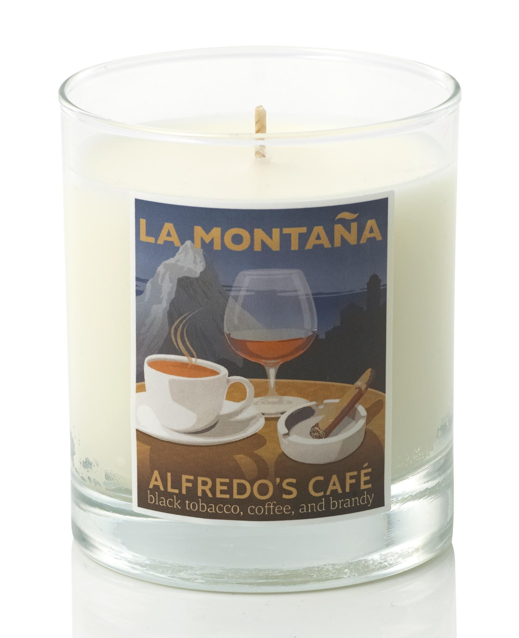 Alfredo Caf Mini Candle Coffee Scented