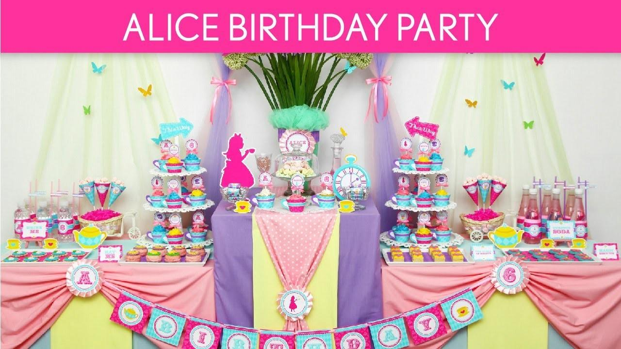 Alice Wonderland Birthday Party Ideas Tea