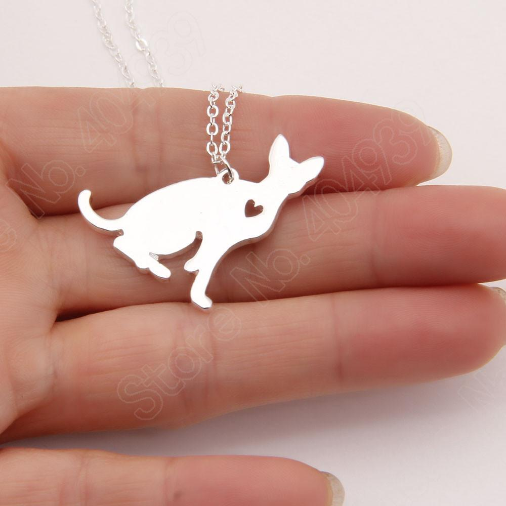 Aliexpress Buy 1pcs Sphynx Cat Necklace Pendant Pet