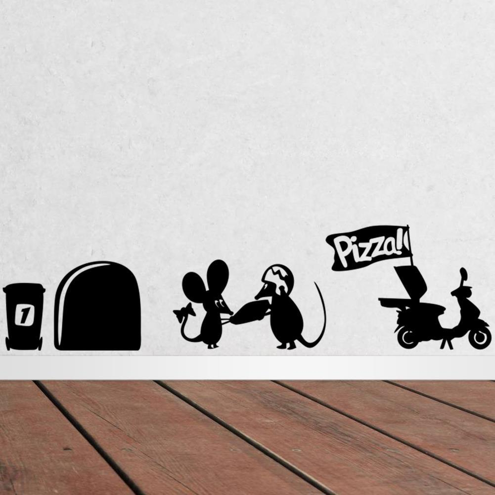 Mouse Hole Wall Art Sticker Washing Vinyl MICE Home Skirting Board Removable