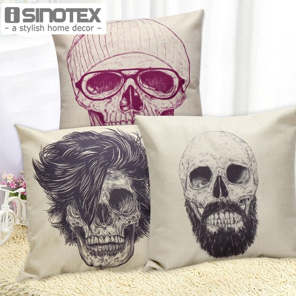 Aliexpress Buy Pcs 45cm Skull Printed Linen