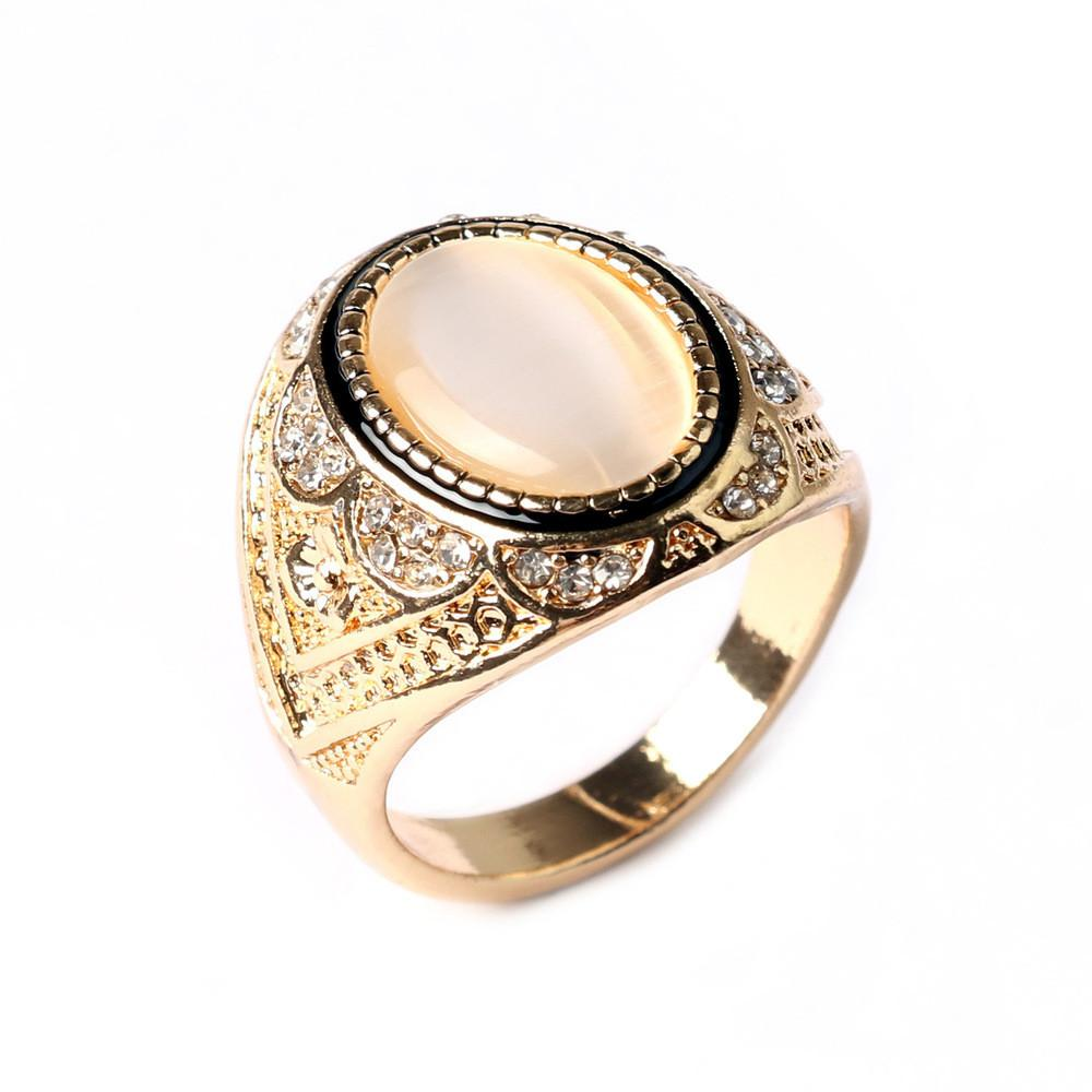 Aliexpress Buy Retro White Stone Ring Gold Silve