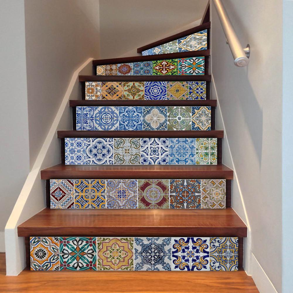 Aliexpress Buy Stairway Stickers Tile Pieces