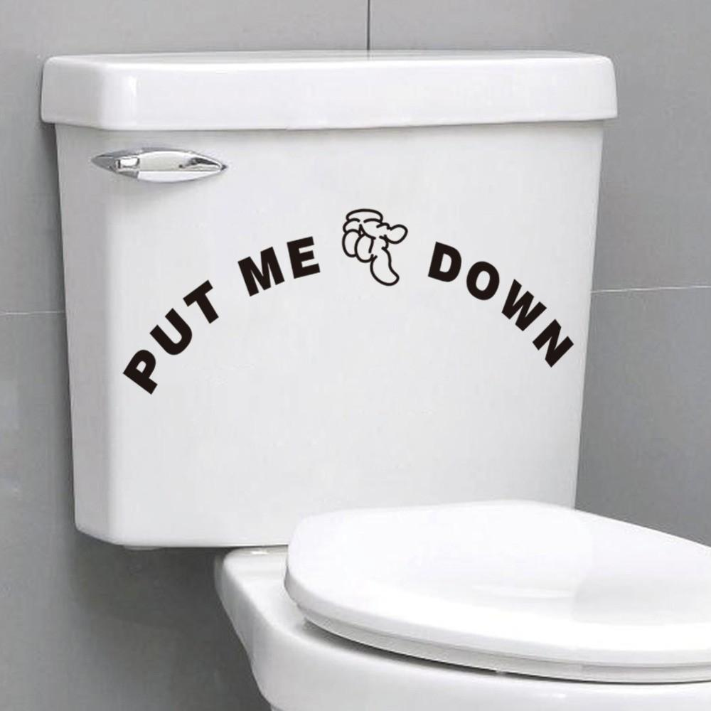 Aliexpress Buy Toilet Stickers Put Down Quotes