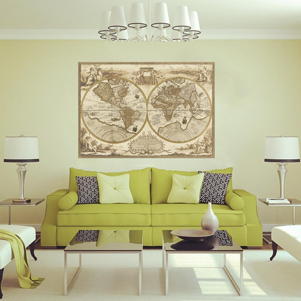 Aliexpress Buy Vintage Style Retro World Map Poster