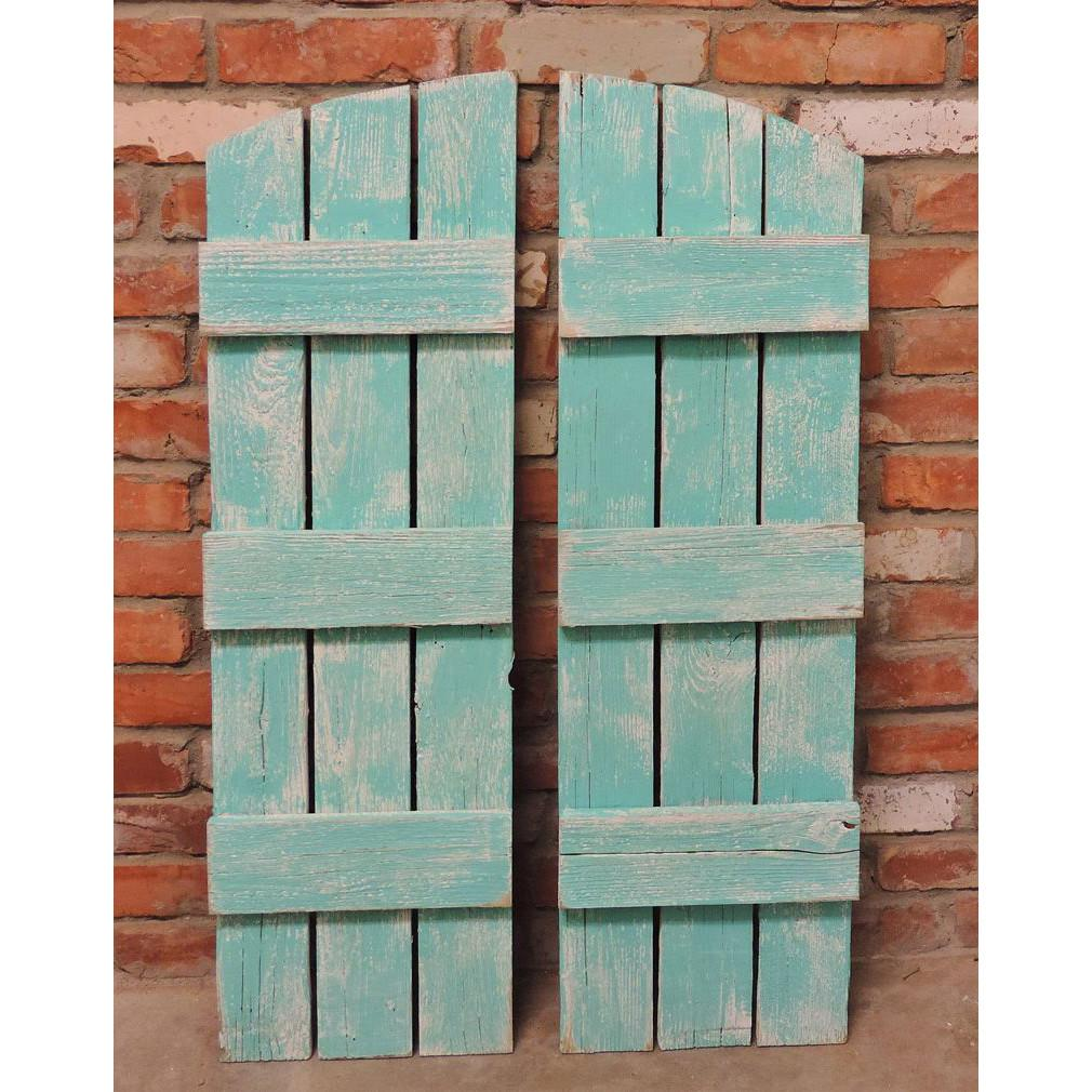 All Barn Wood Rustic Window Shutters Arched