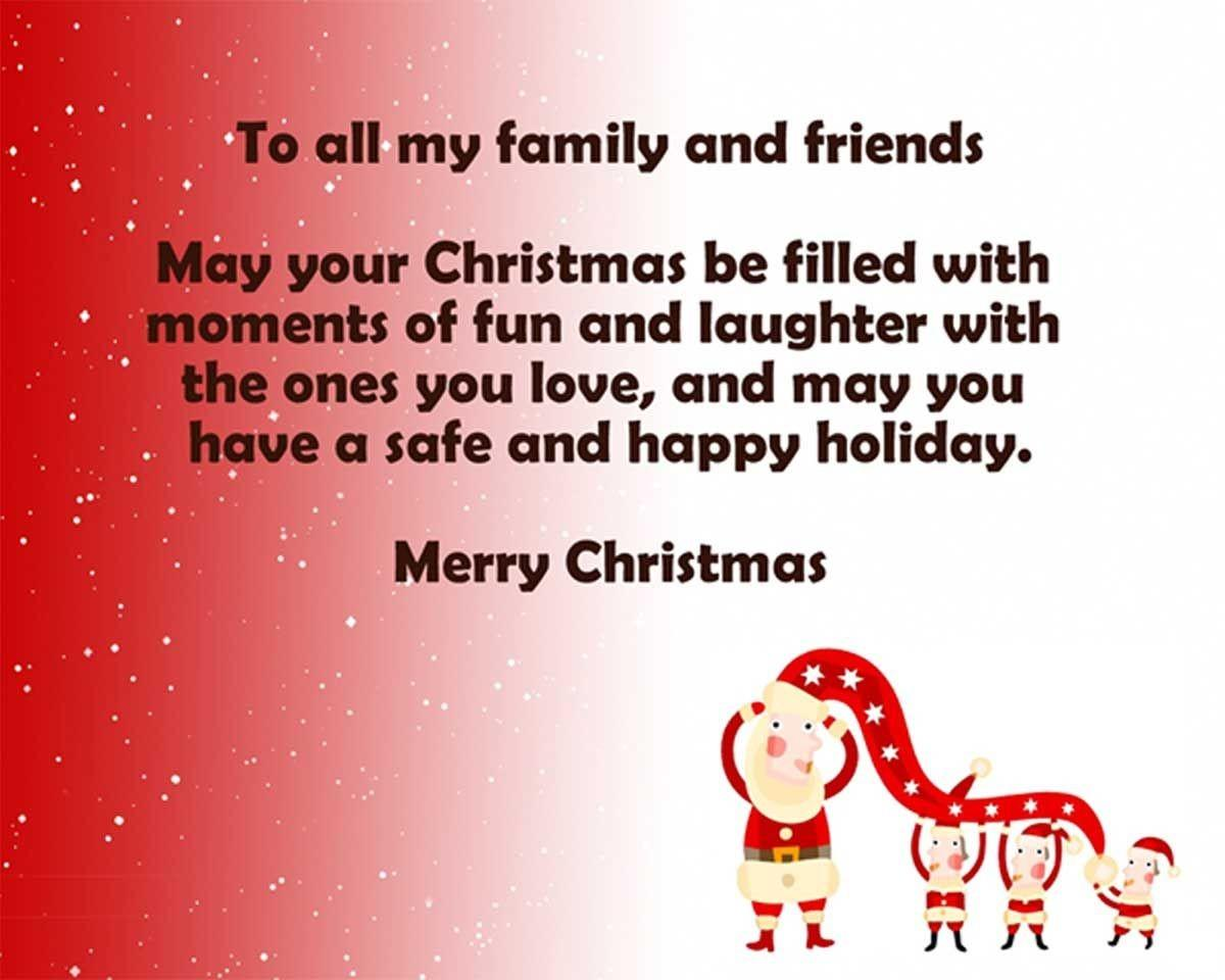 All Family Friends Merry Christmas