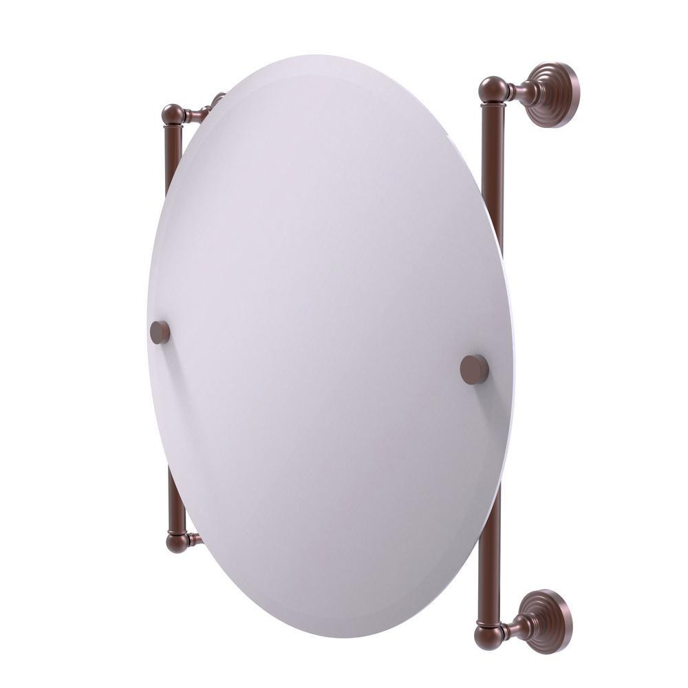 Allied Brass Waverly Place Collection Round Frameless Rail