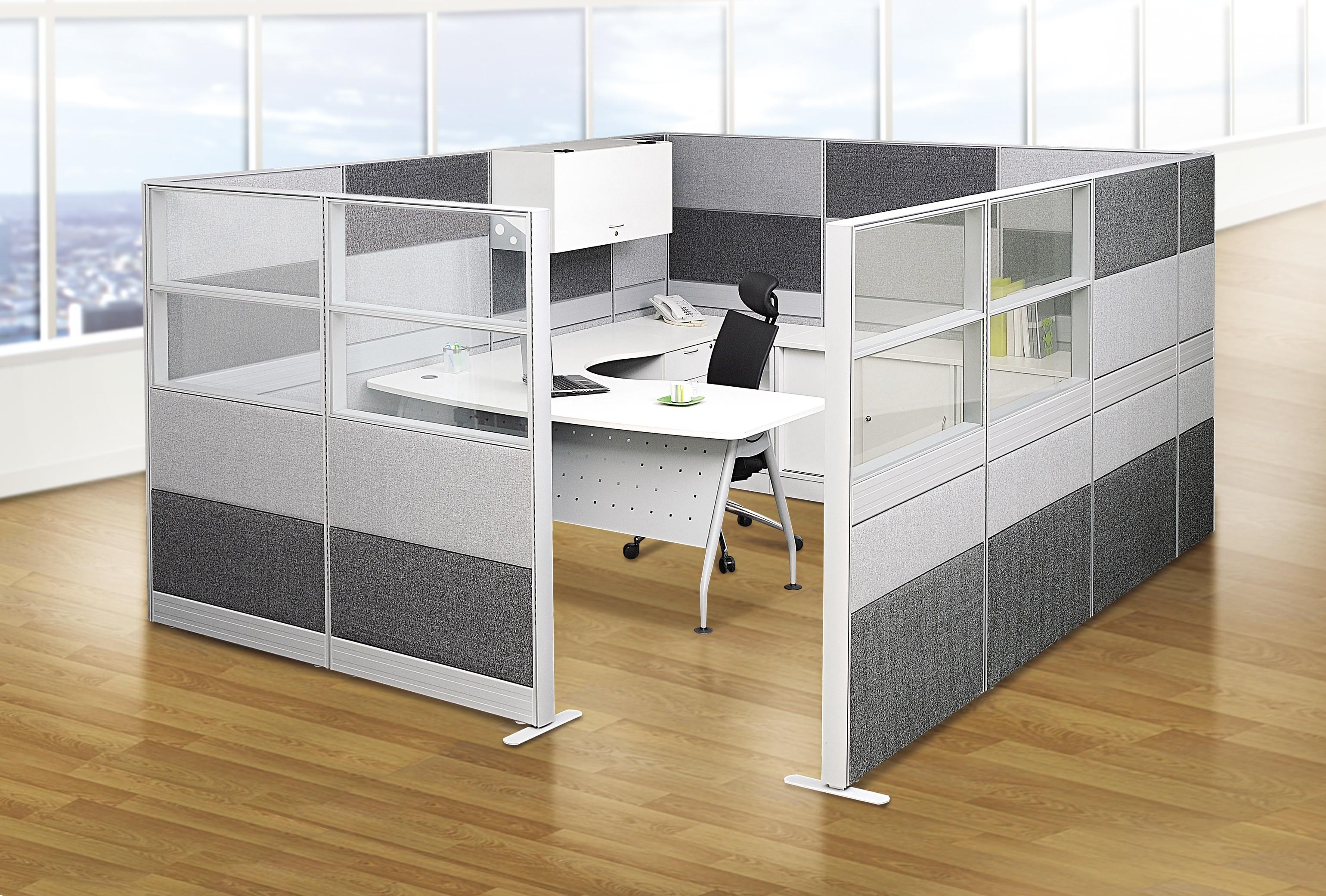 Alluring Home Office Partitions Plus Design Rotate White