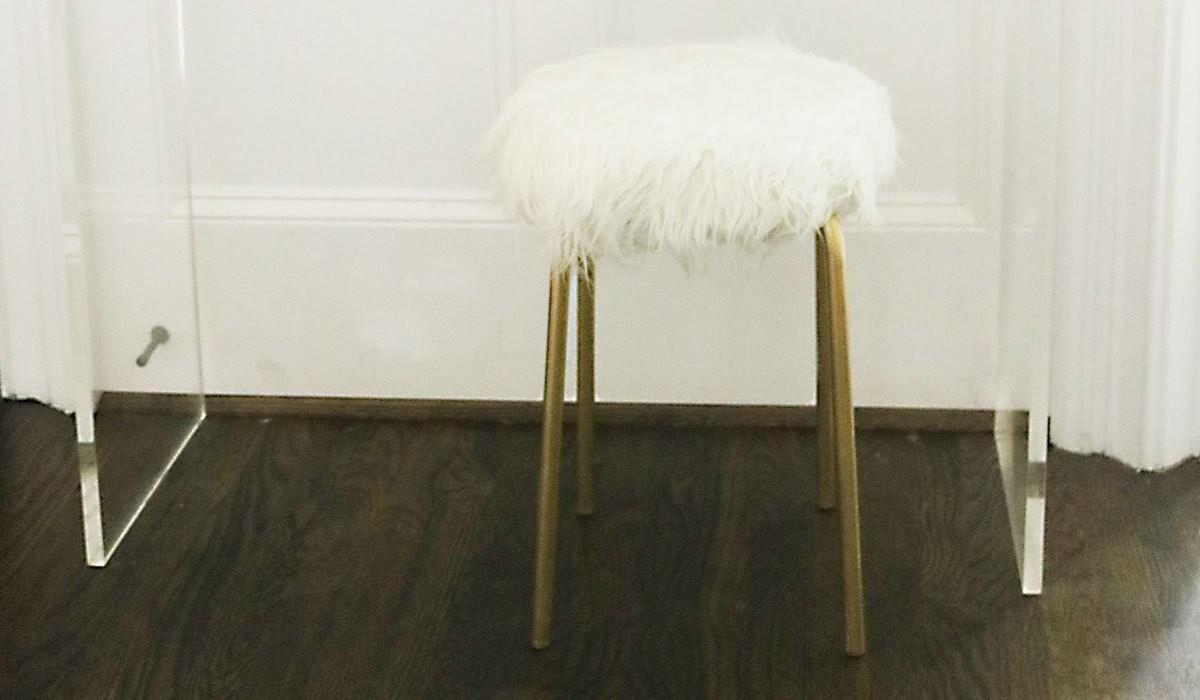 Alluring More Diy Faux Fur Foot Stool Tool Bungalow