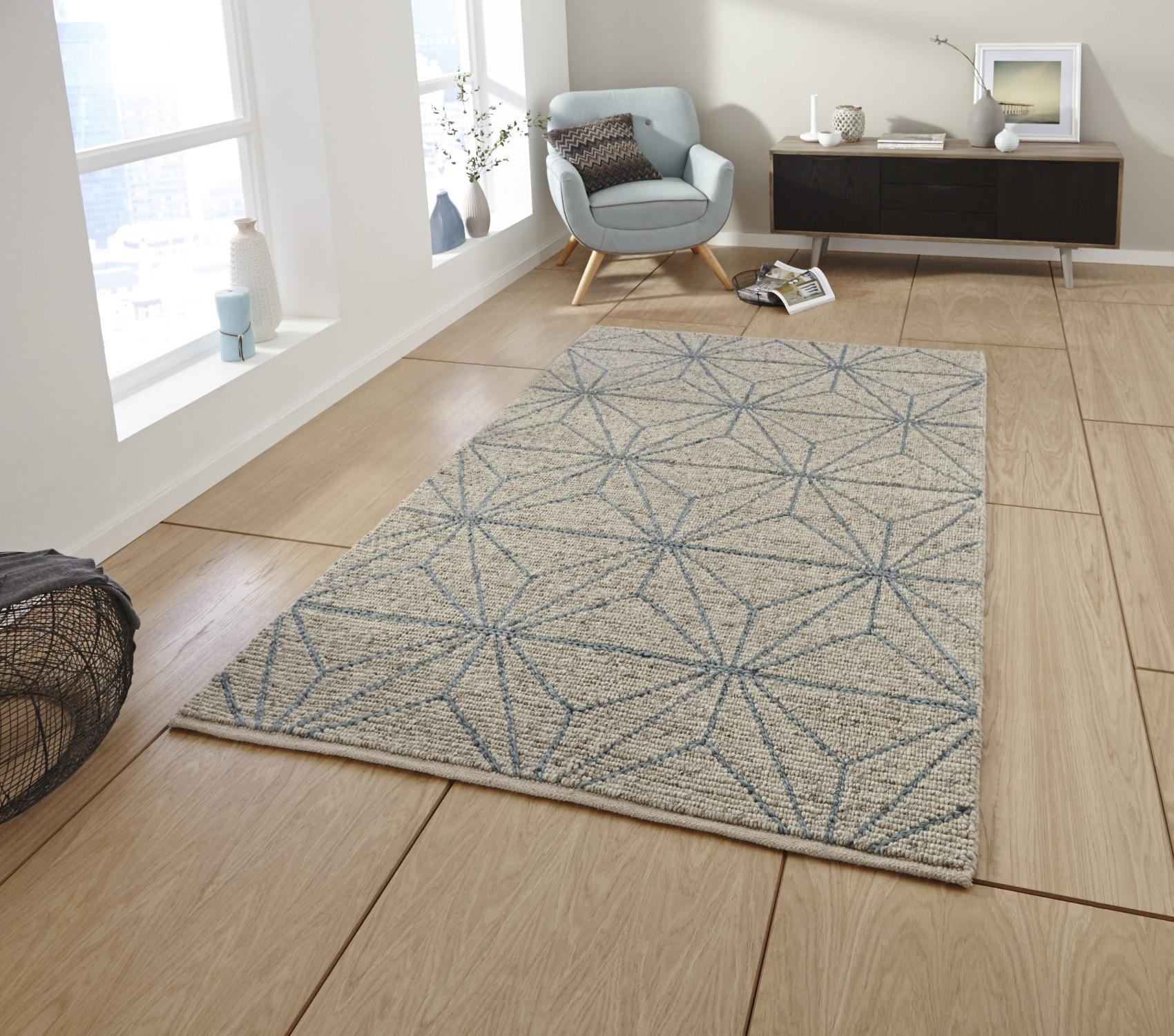 Alpha Hand Knotted 100 Wool Rug Neutral Textured Large