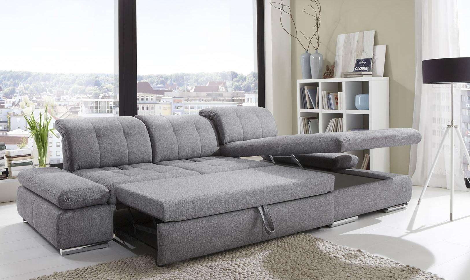 Alpine Sectional Sleeper Sofa Right Arm Chaise Facing