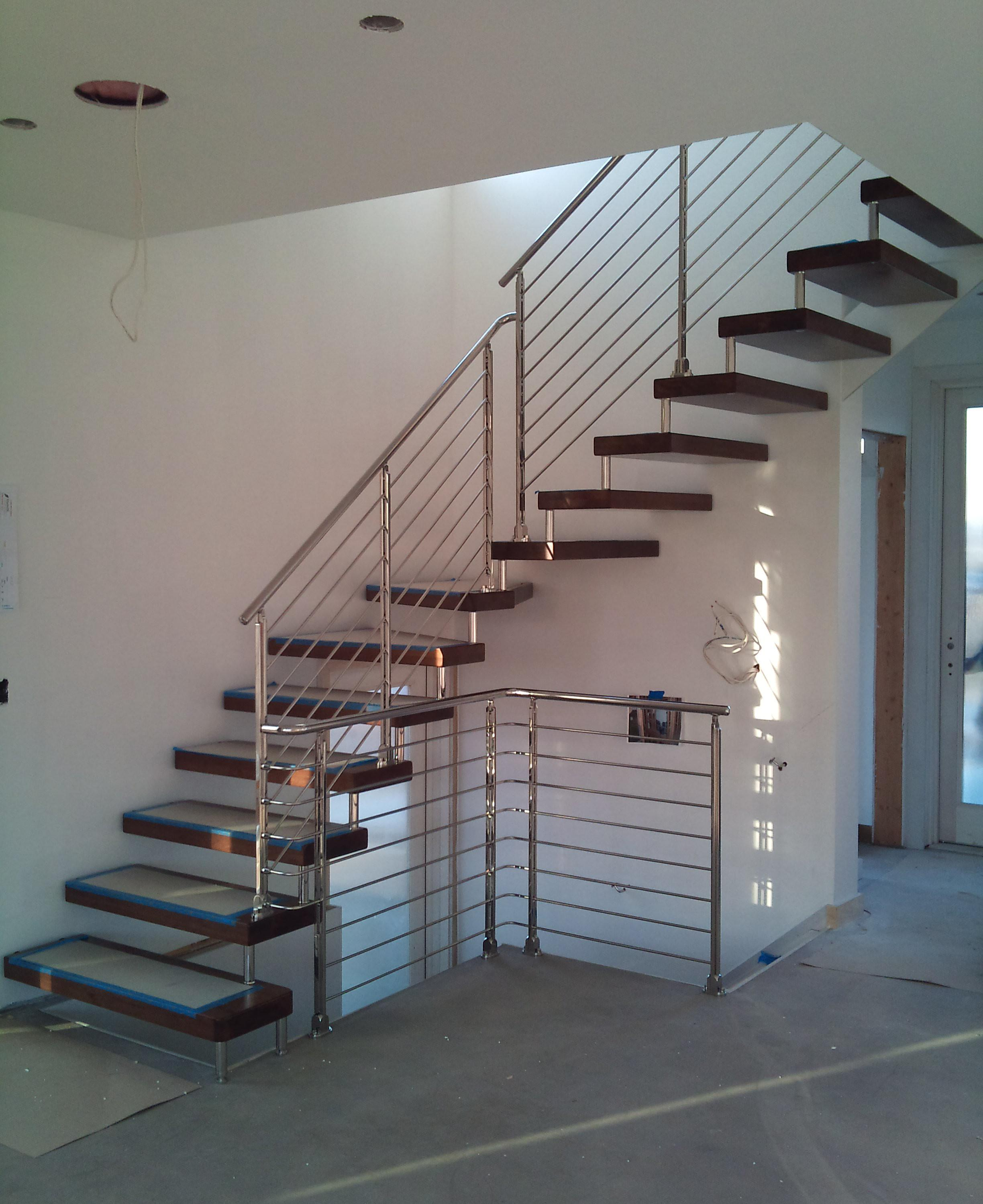 Alstairways Modern Glass Metal Stair