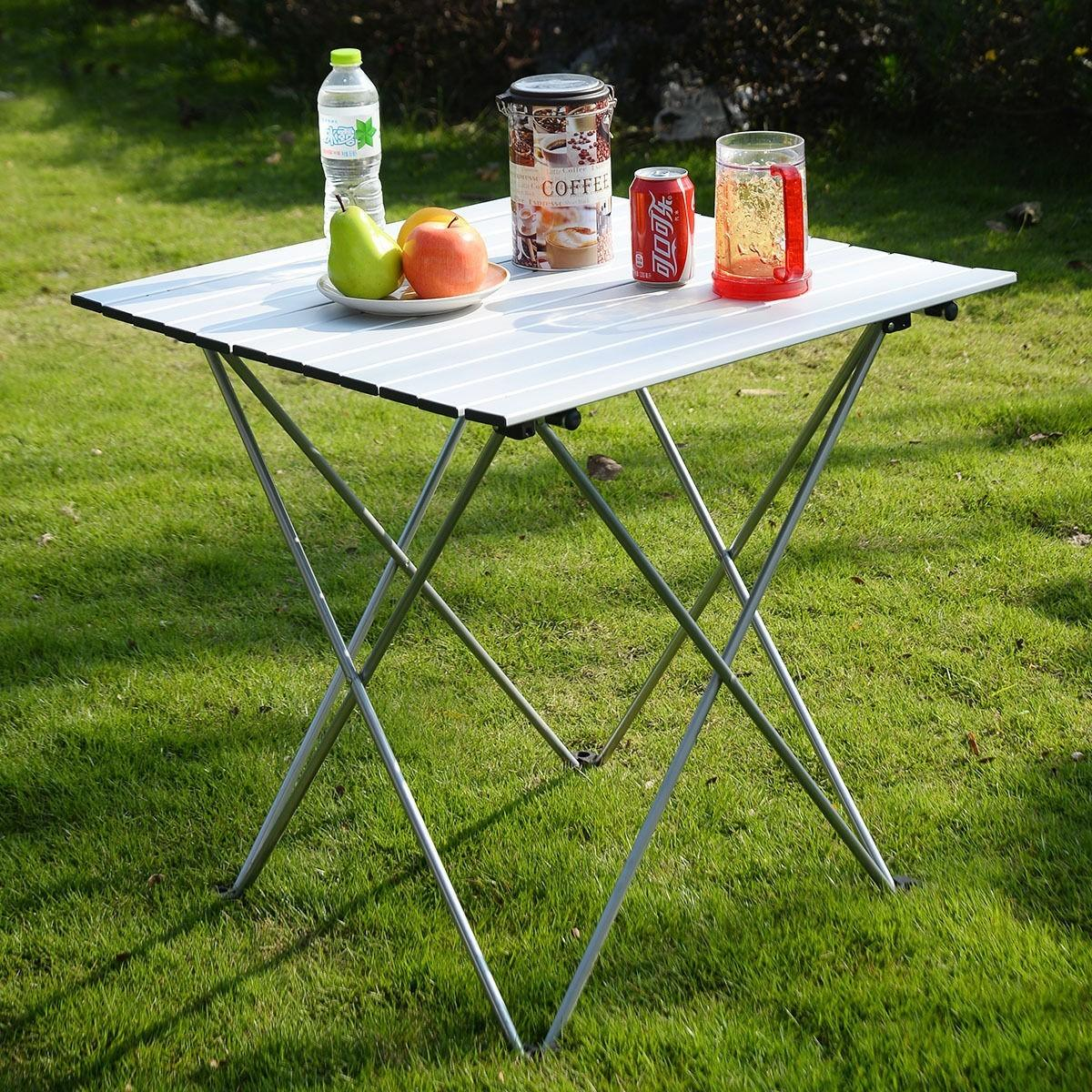 Aluminum Roll Table Folding Camping Outdoor Indoor