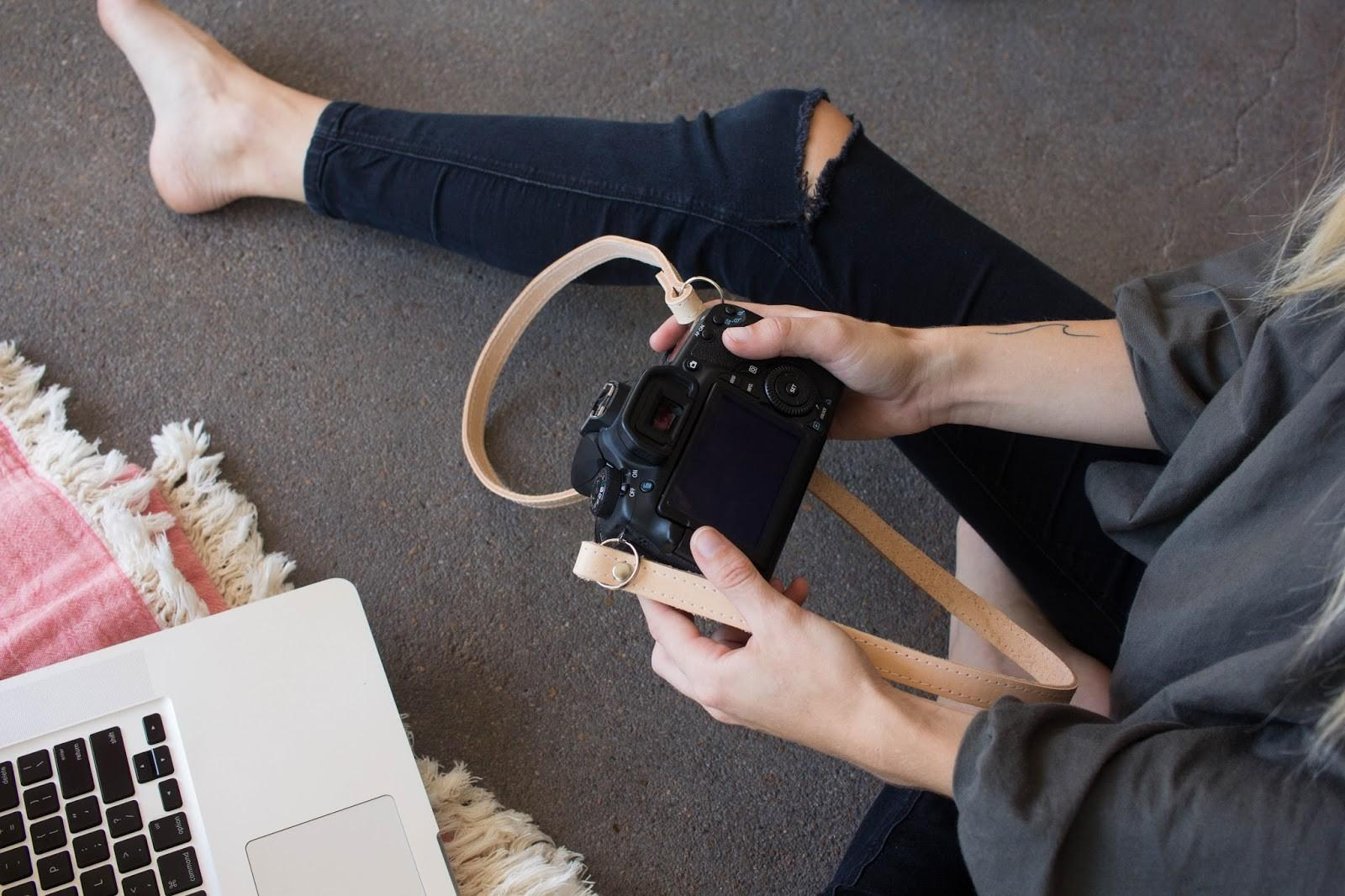 Always Rooney Simple Leather Camera Strap Diy