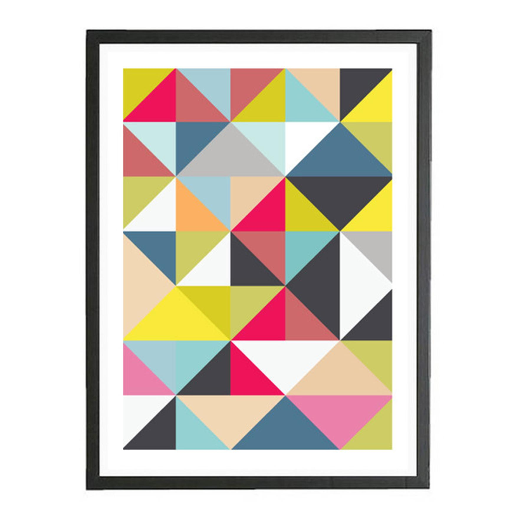 Always Wanted Geometric Art Print Recycled