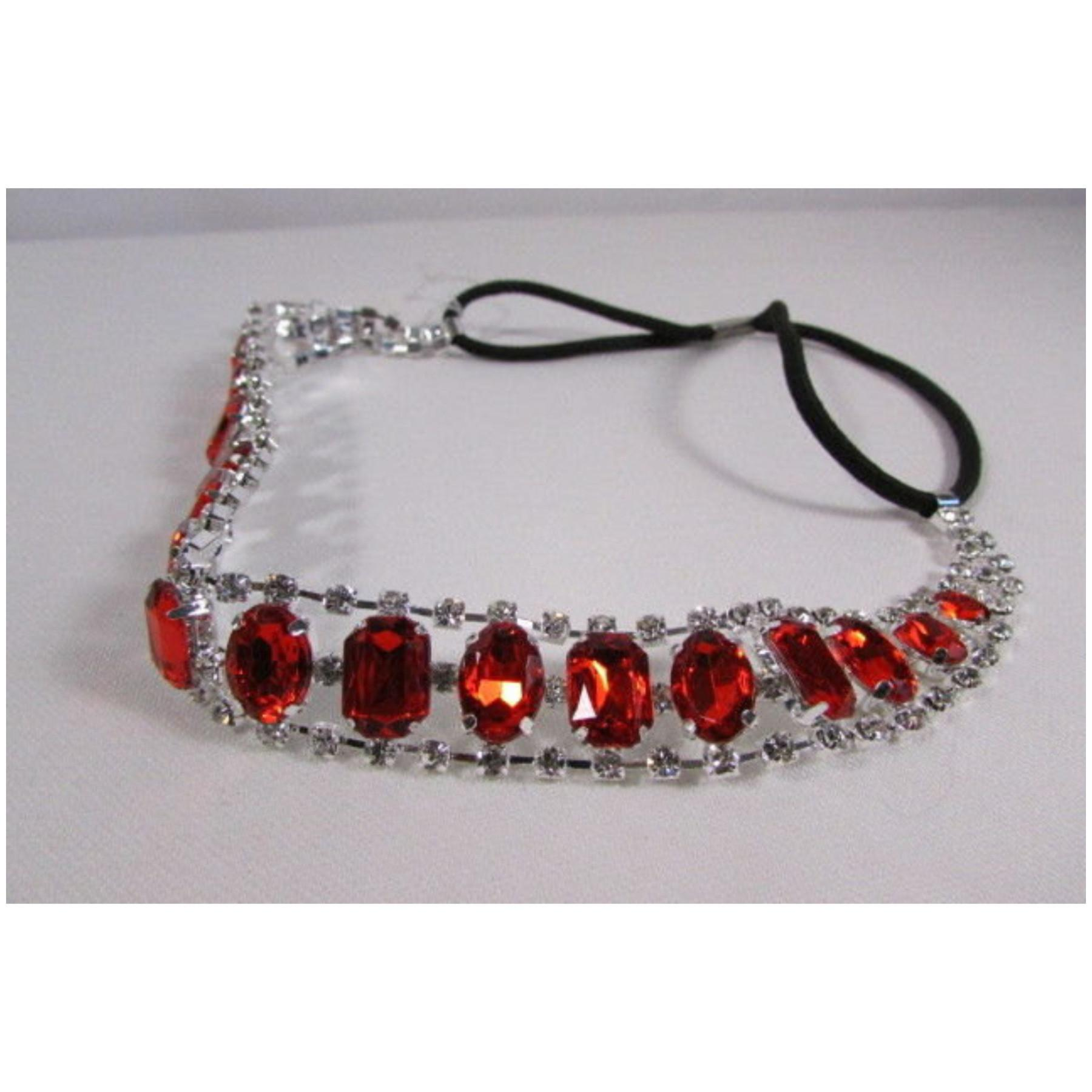 Alwaystyle4you Trendy Red Silver Rhinestone Fashion