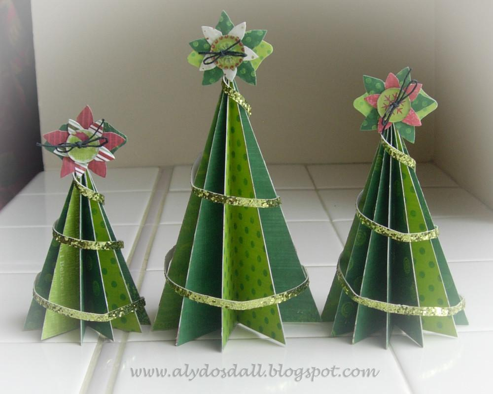 Aly Dosdall Paper Christmas Tree Set
