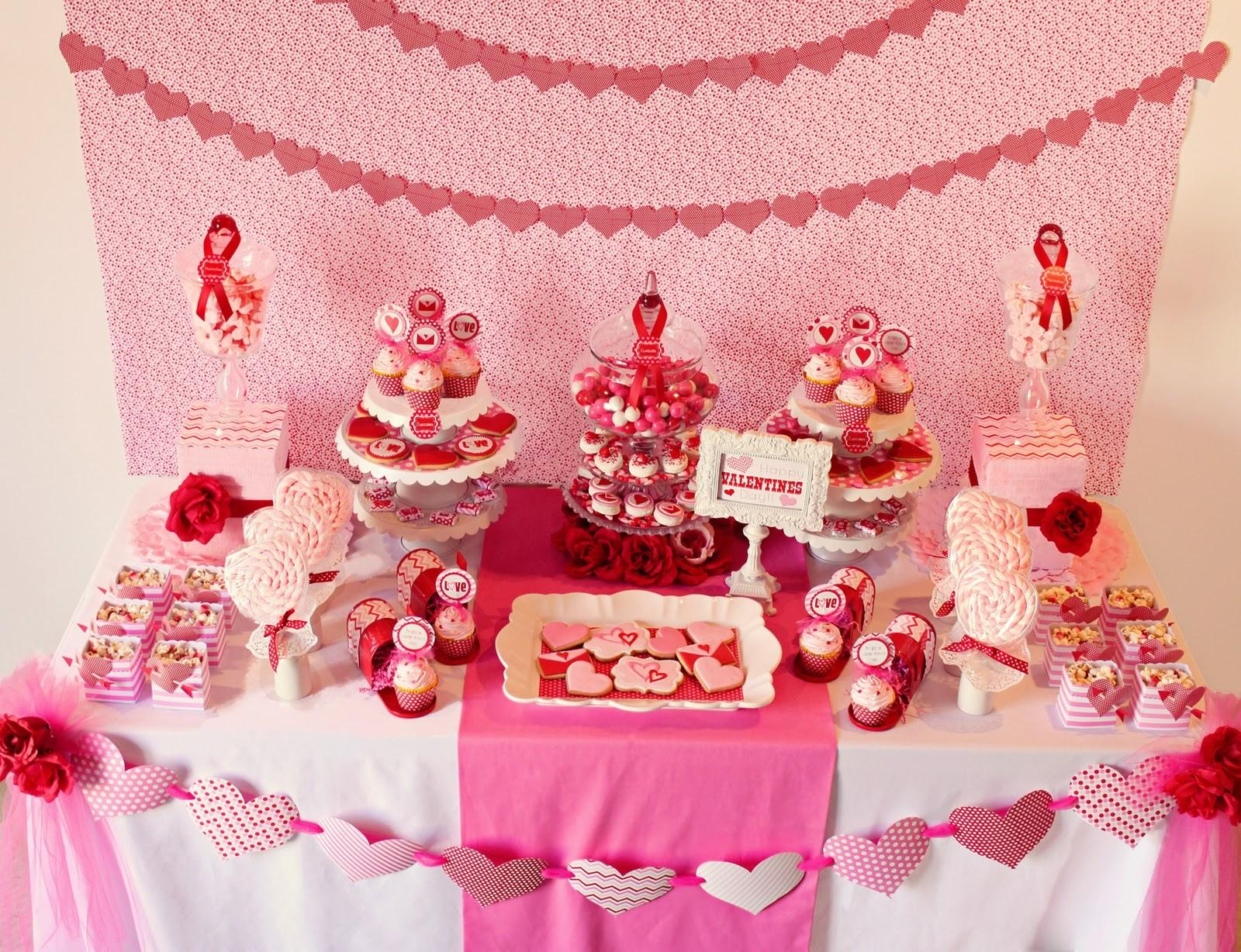 Amanda Parties Valentines Party Table Ideas