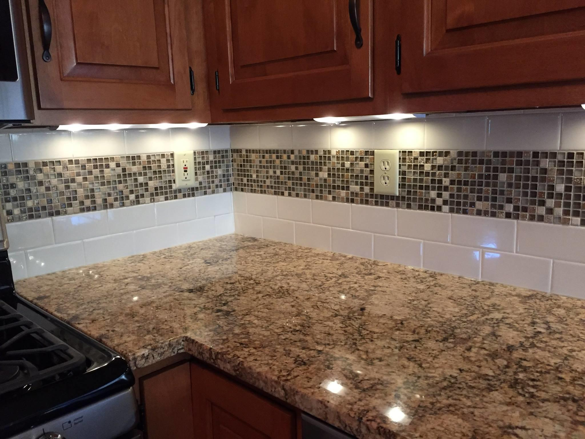 Amazing Brown Subway Tile Backsplash Contemporary