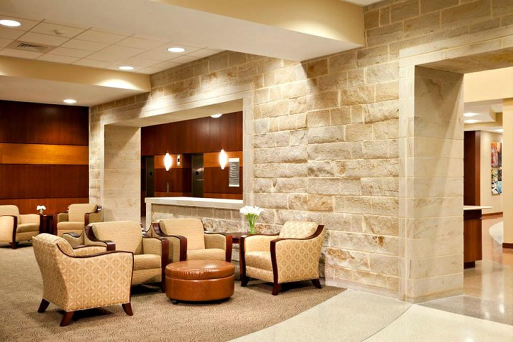 Amazing Commercial Interior Design Brick Wall Style Brown