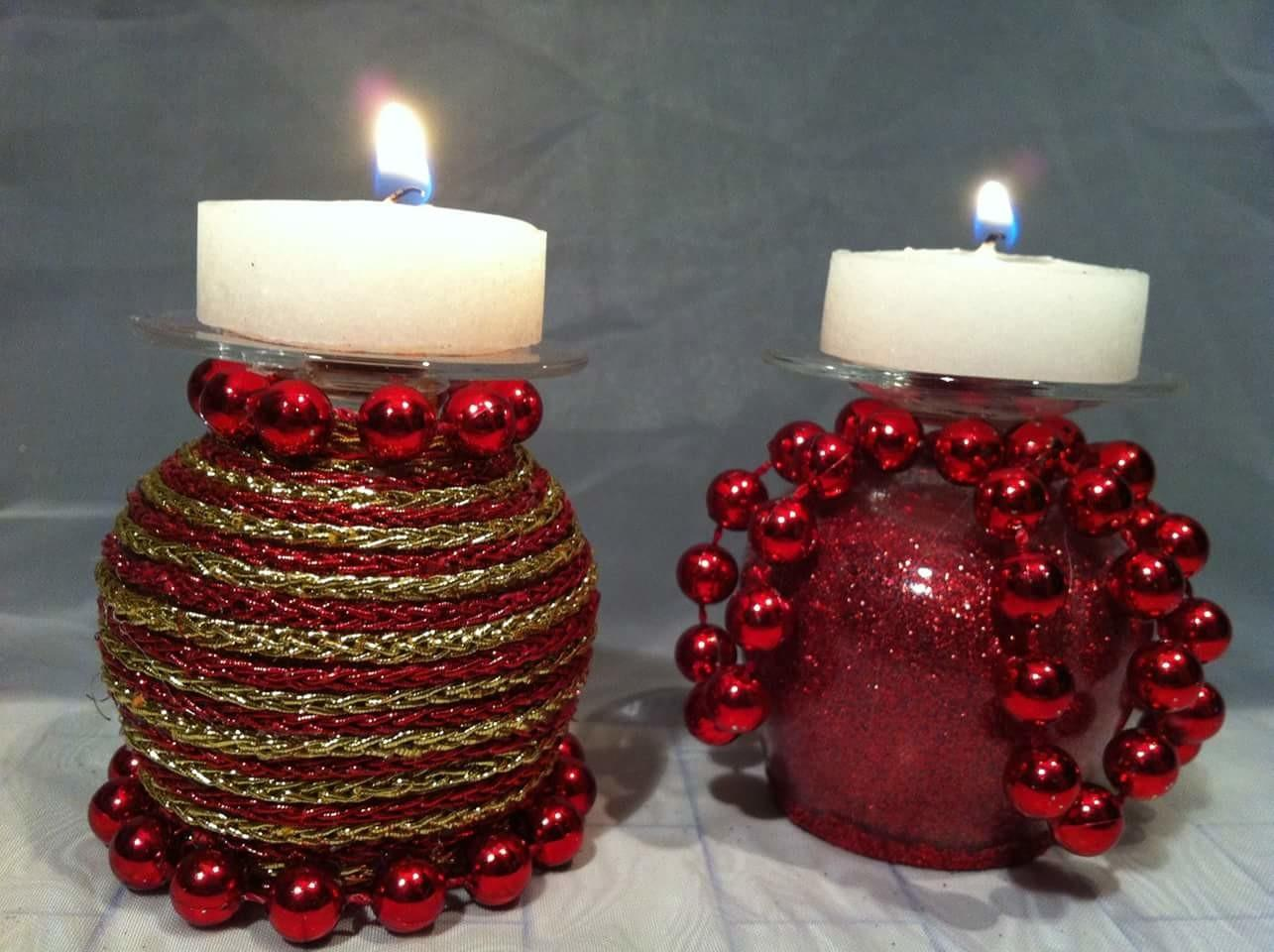 Amazing Diy Christmas Wine Glasses Candle Holders