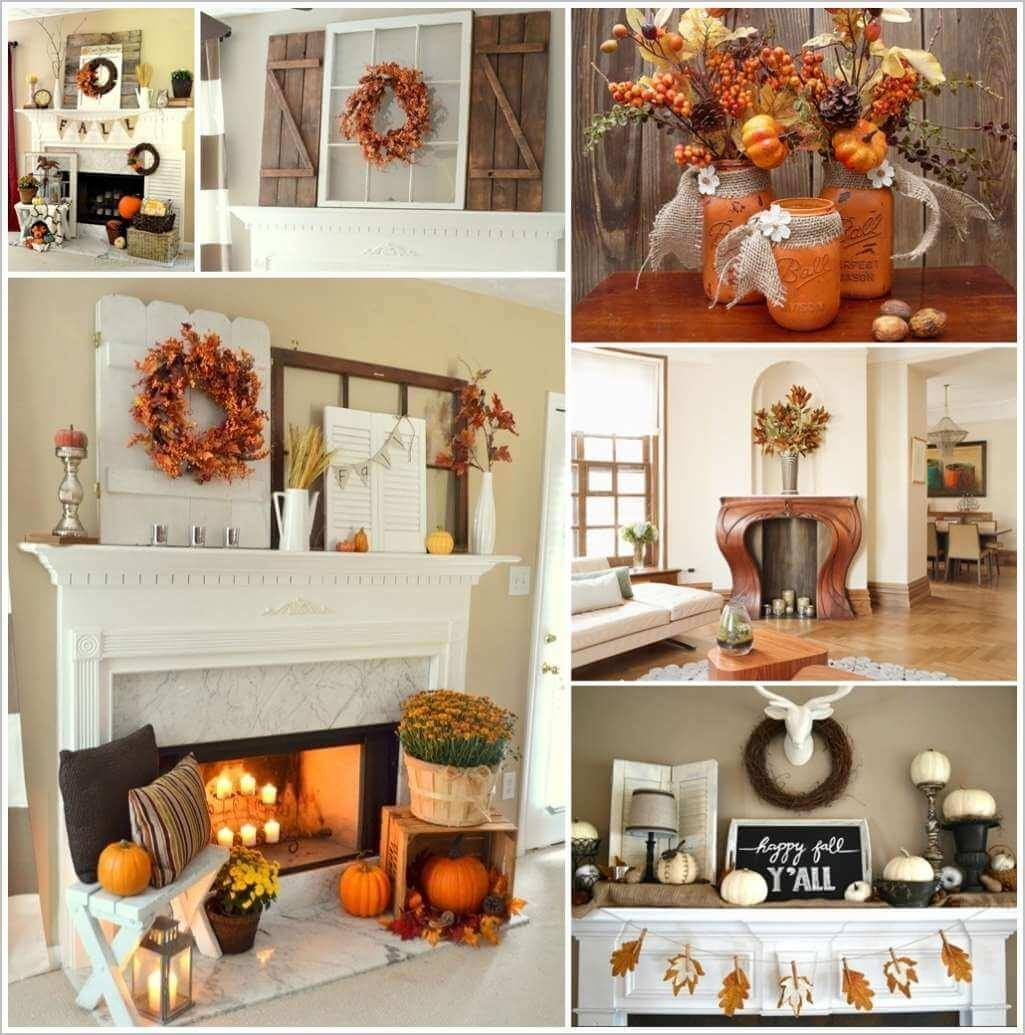 Dazzling Exciting Fall Mantel Decor Ideas That Are Totally Worth