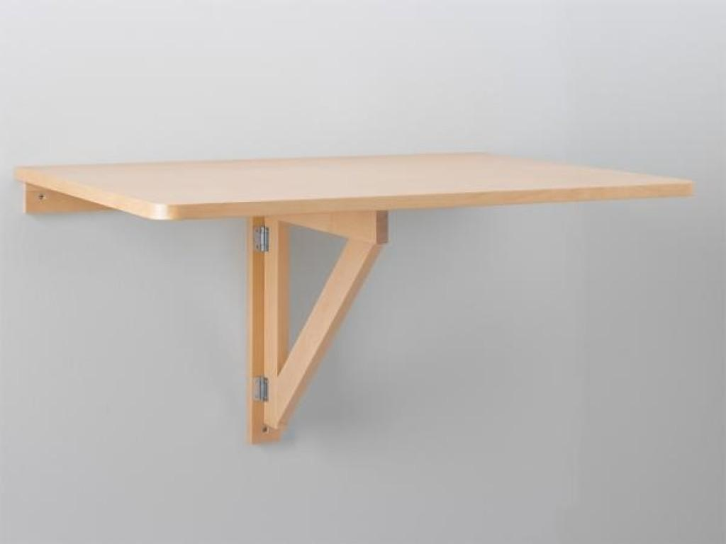 Amazing Folding Table Attached Wall Space Saver