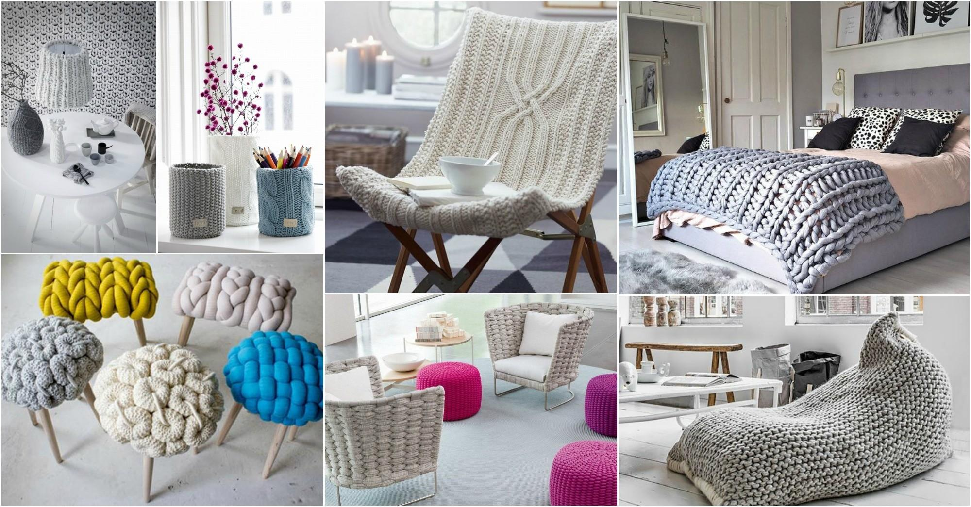 Amazing Knitted Interior Elements Warm