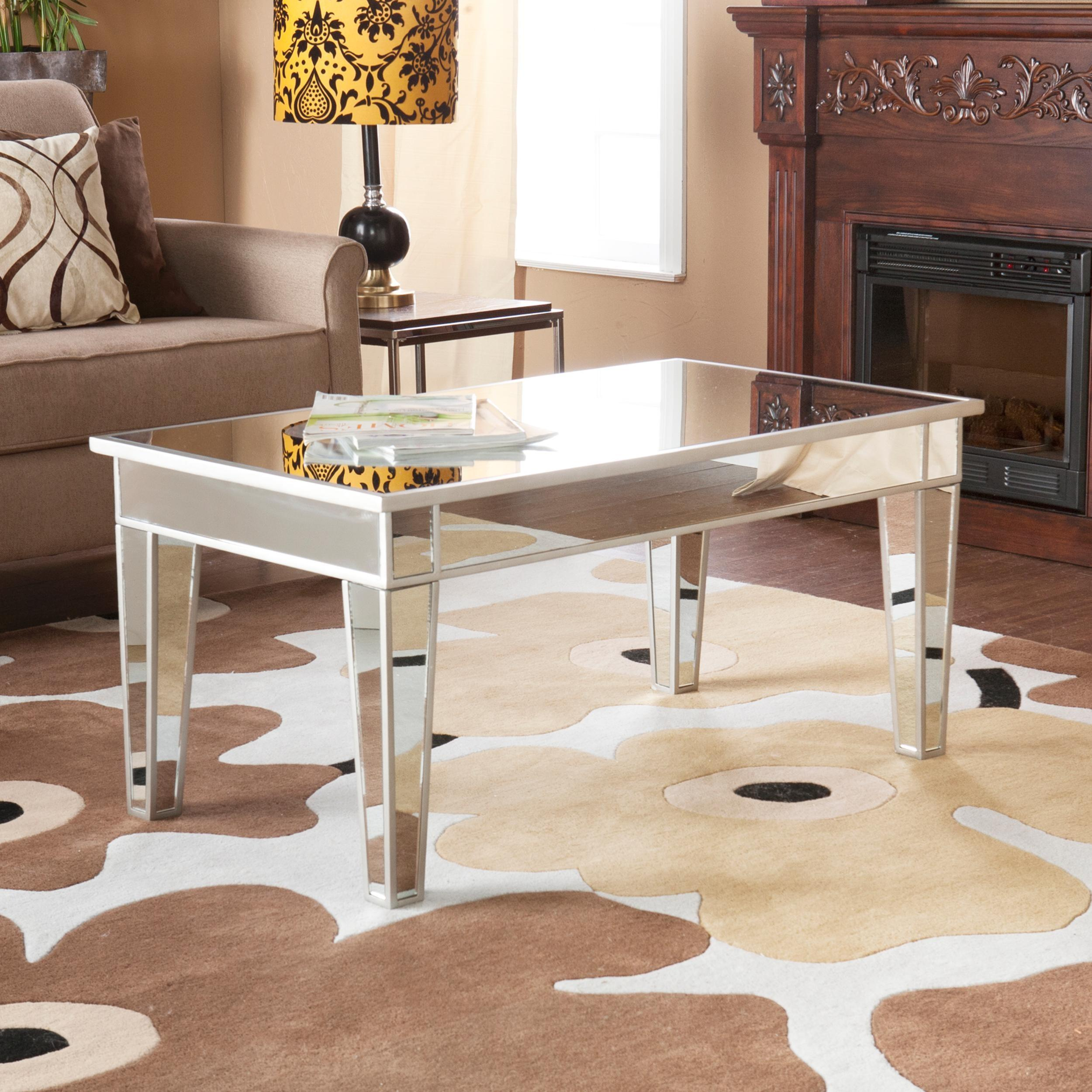 Amazing Mirrored Coffee Table Add Larger