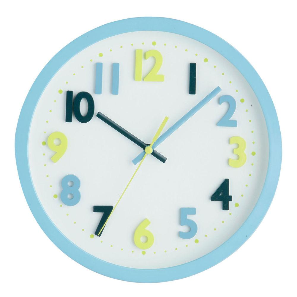 Amazing New Style Wall Clock Multi Coloured Numbers Kids