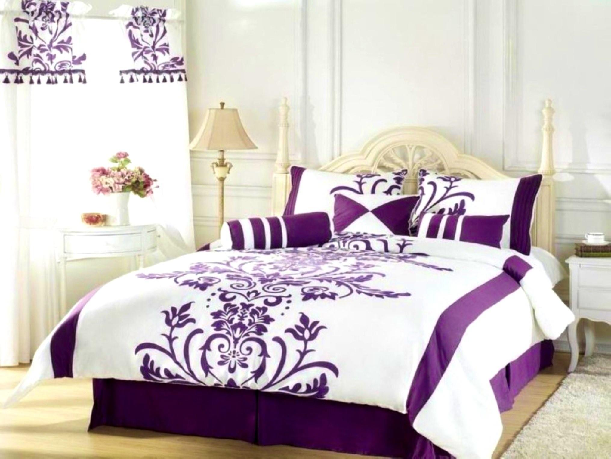Amazing Purple White Bedroom Ideas Pertaining