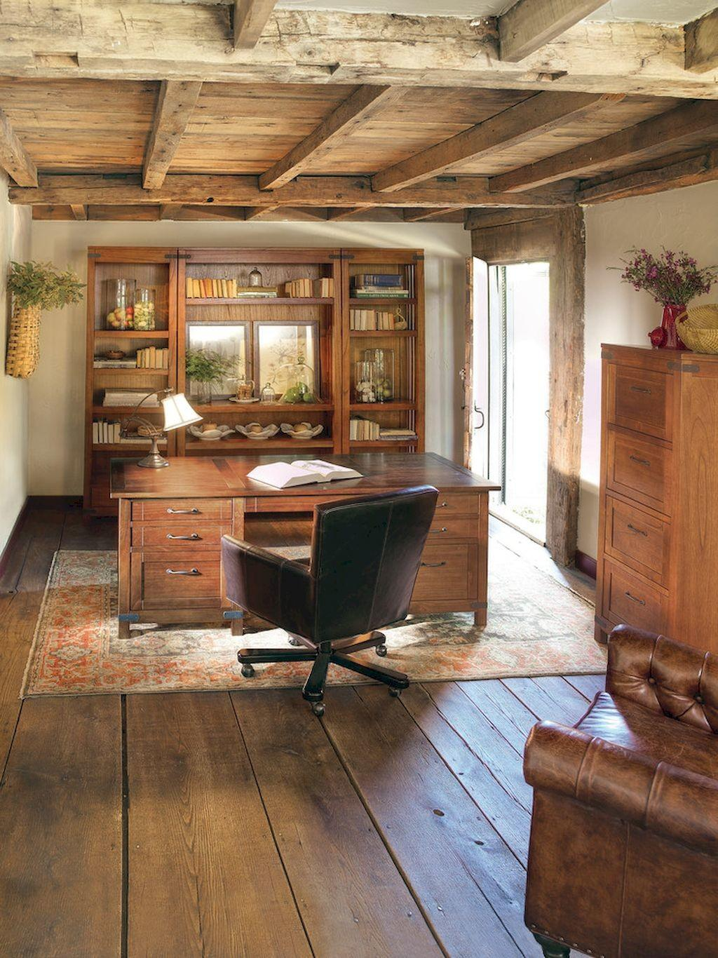Amazing Rustic Home Office Furniture Ideas