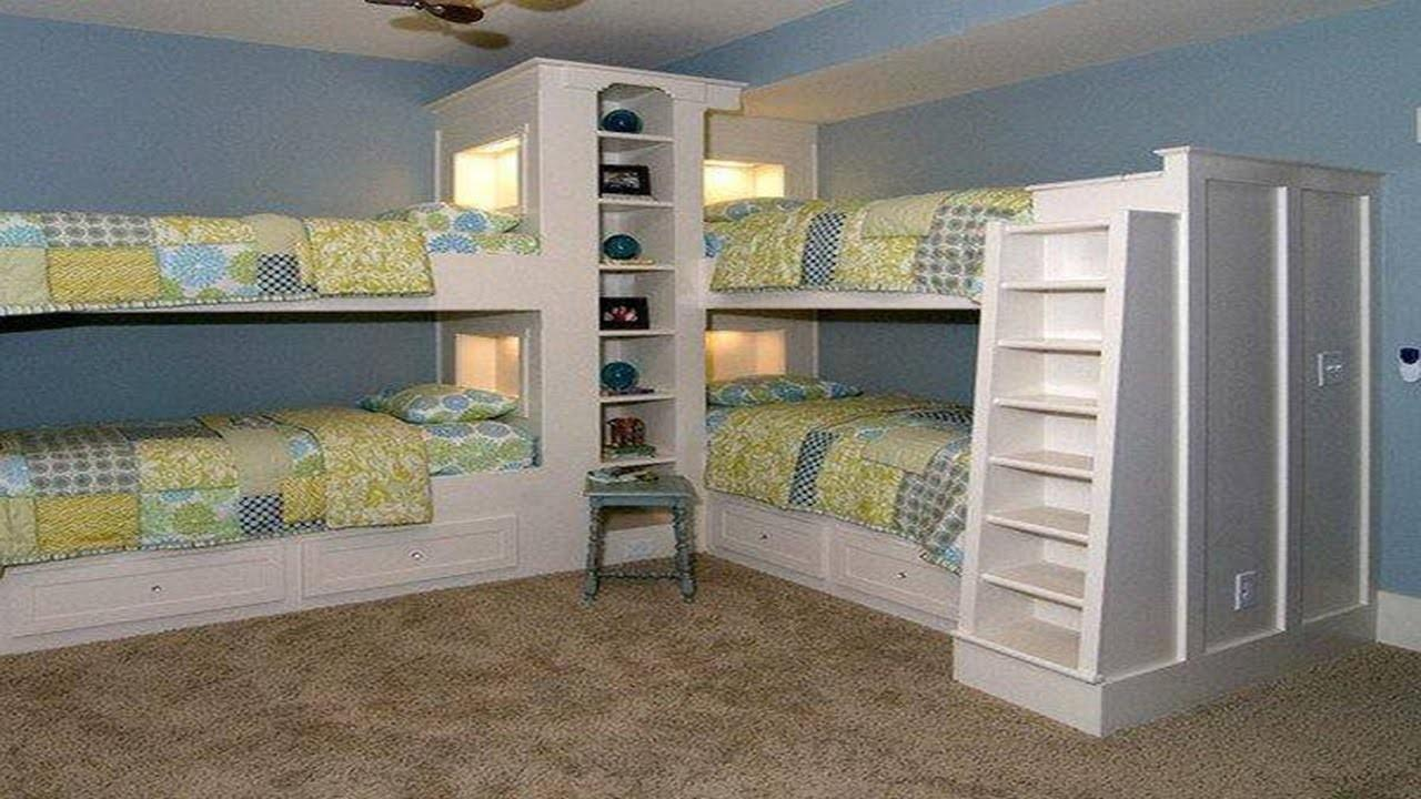 Amazing Space Saving Bedroom Ideas Showing Brown Wooden