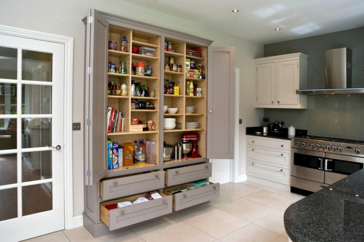 Amazing Stand Alone Kitchen Pantry Design Ideas Round
