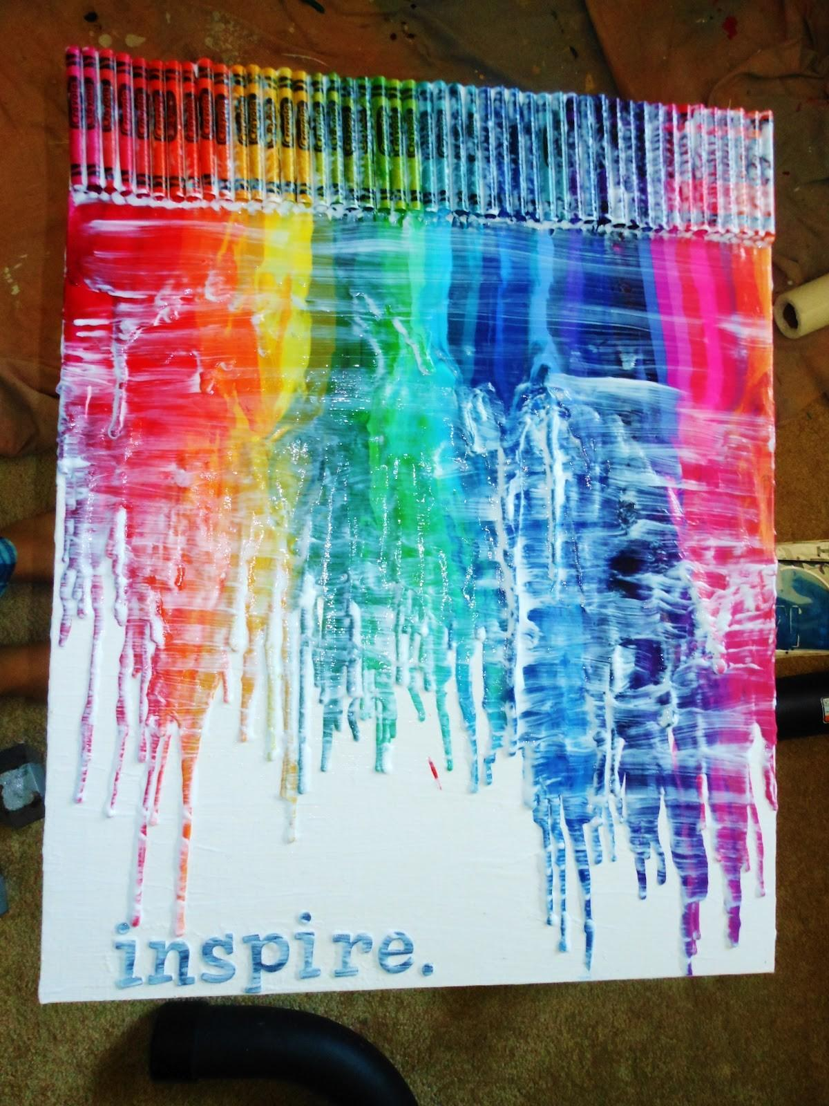 Ambition Never Goes Out Style Diy Melted Crayon Art