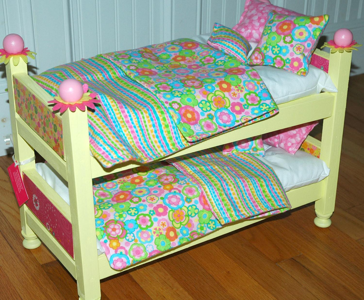 American Girl Doll Bed Sunny Yellow Bunk