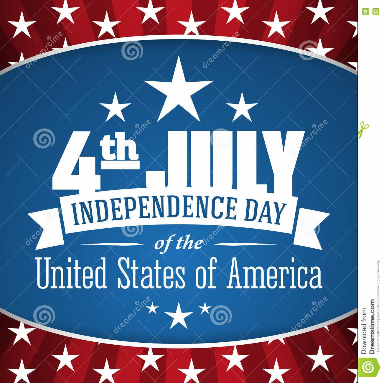 American Independence Day Design Fourth July Patriotic