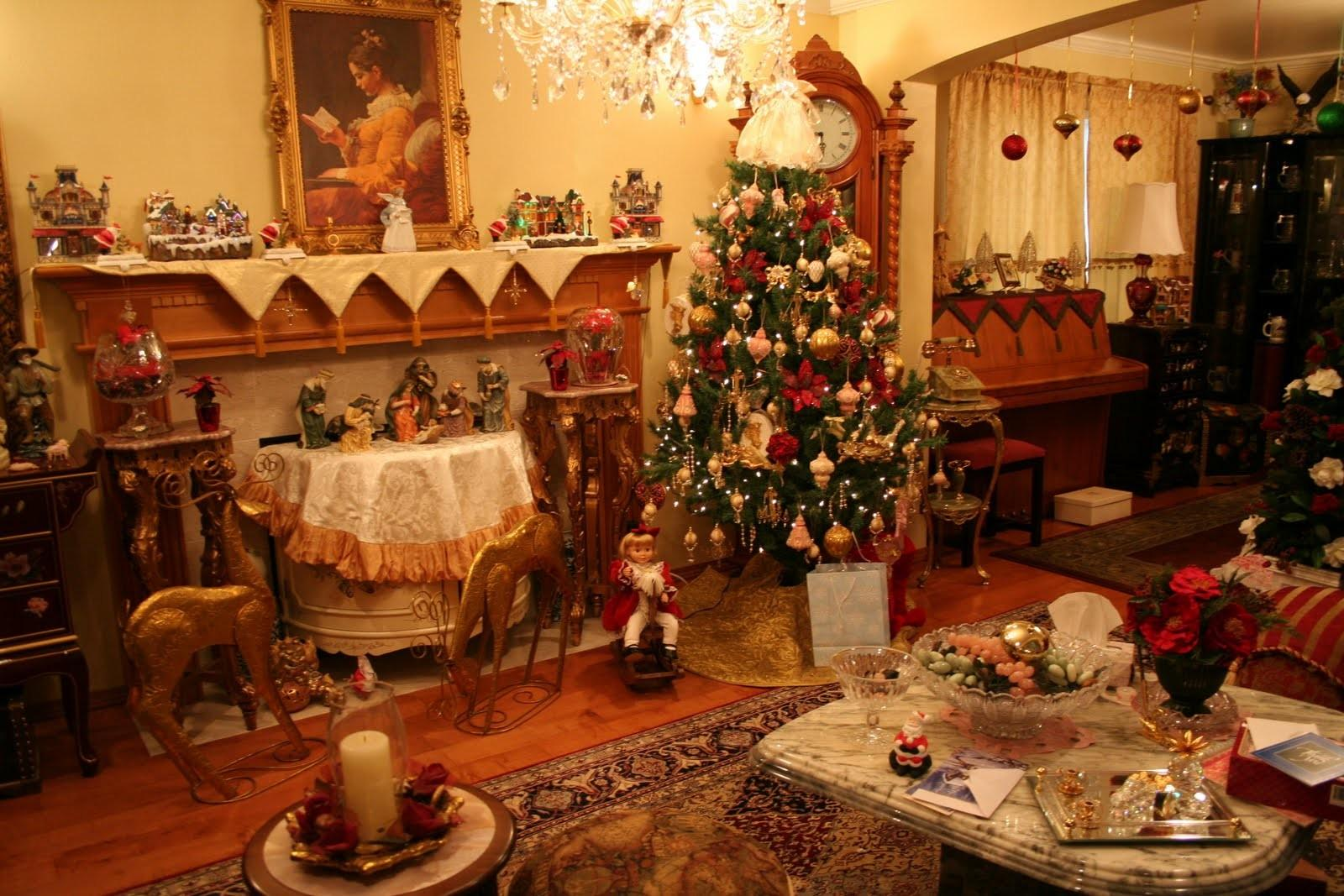 American Living Room Decorated Christmas Tree 4108