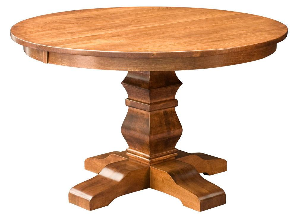 Amish Round Pedestal Dining Table Solid Wood Rustic