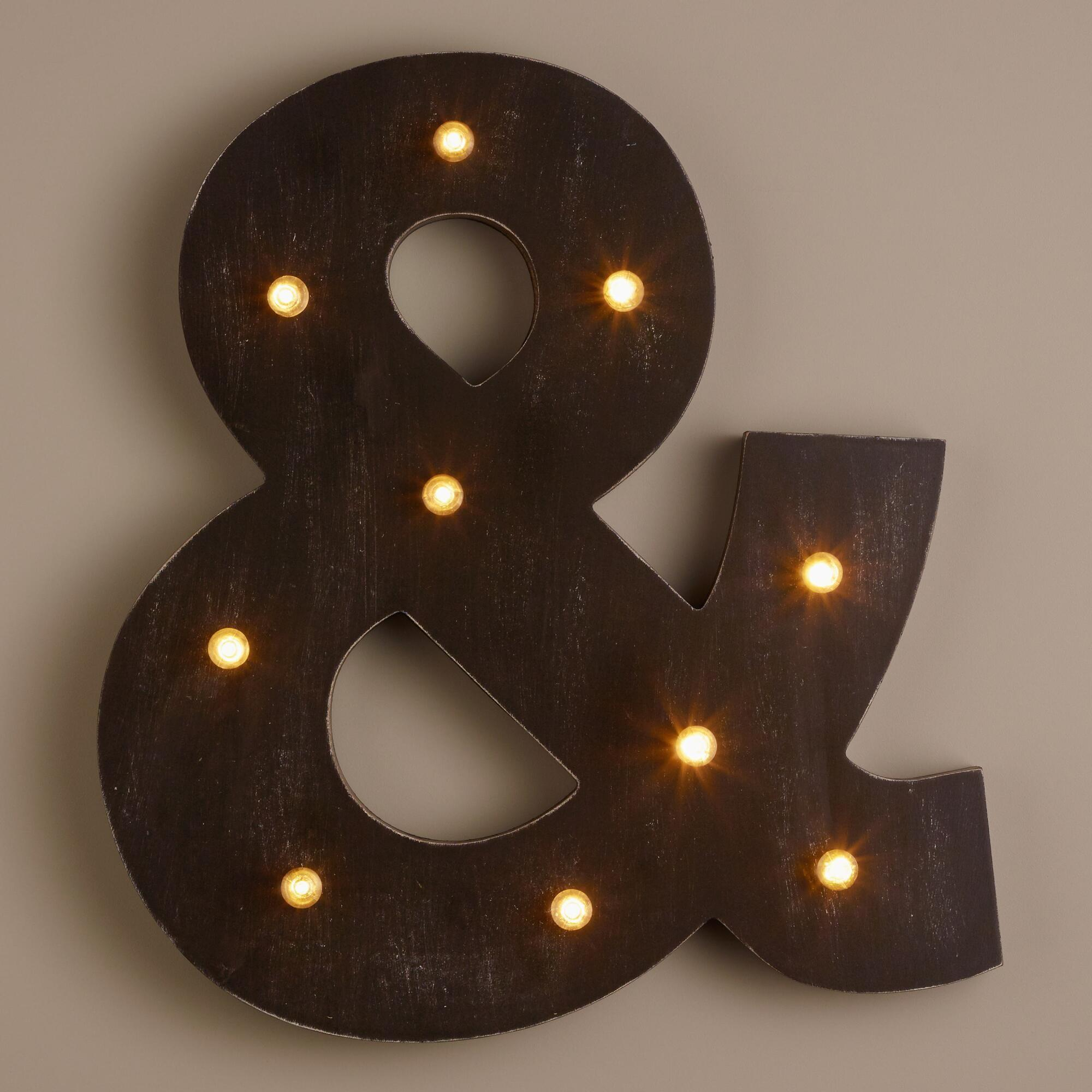 Ampersand Led Battery Operated Marquee Light World Market