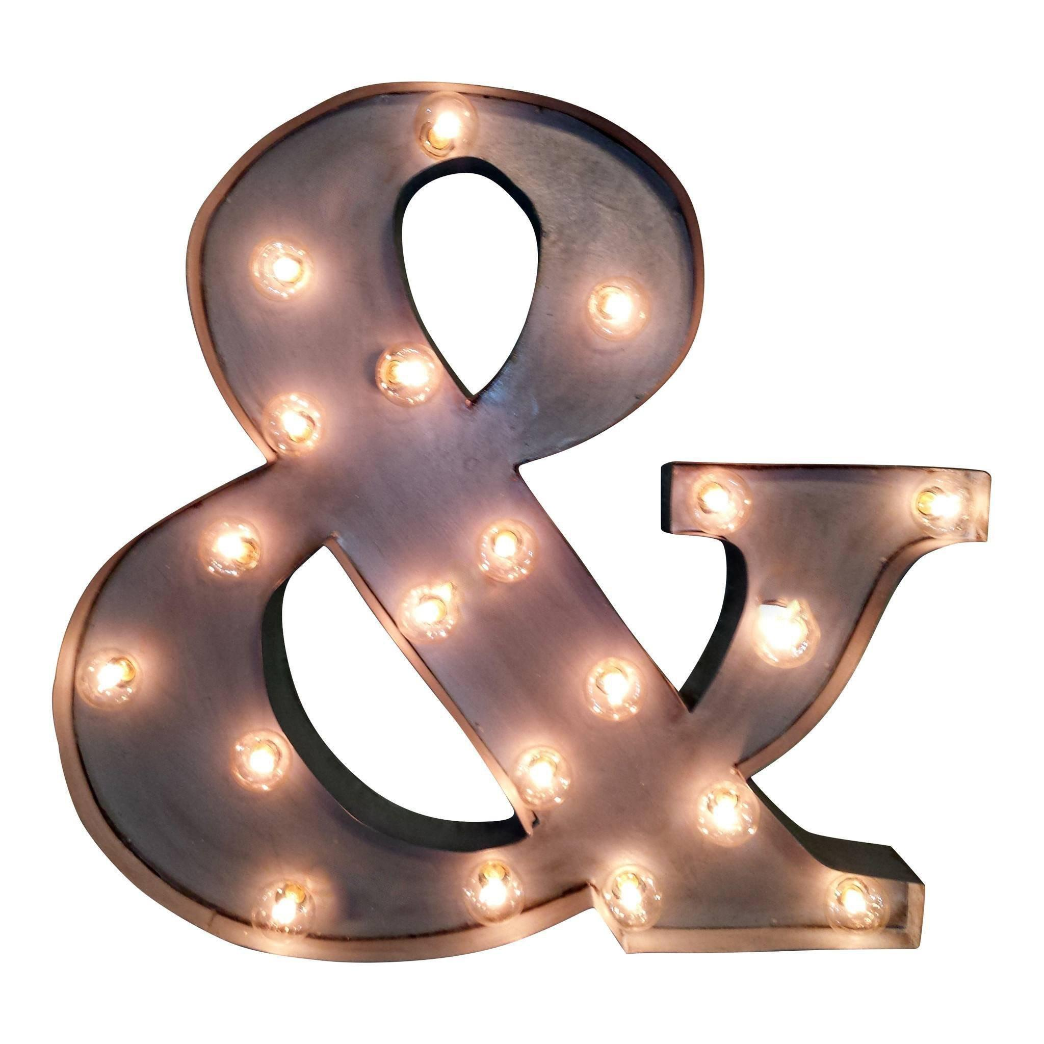 Ampersand Symbol Marquee Sign Light Buy