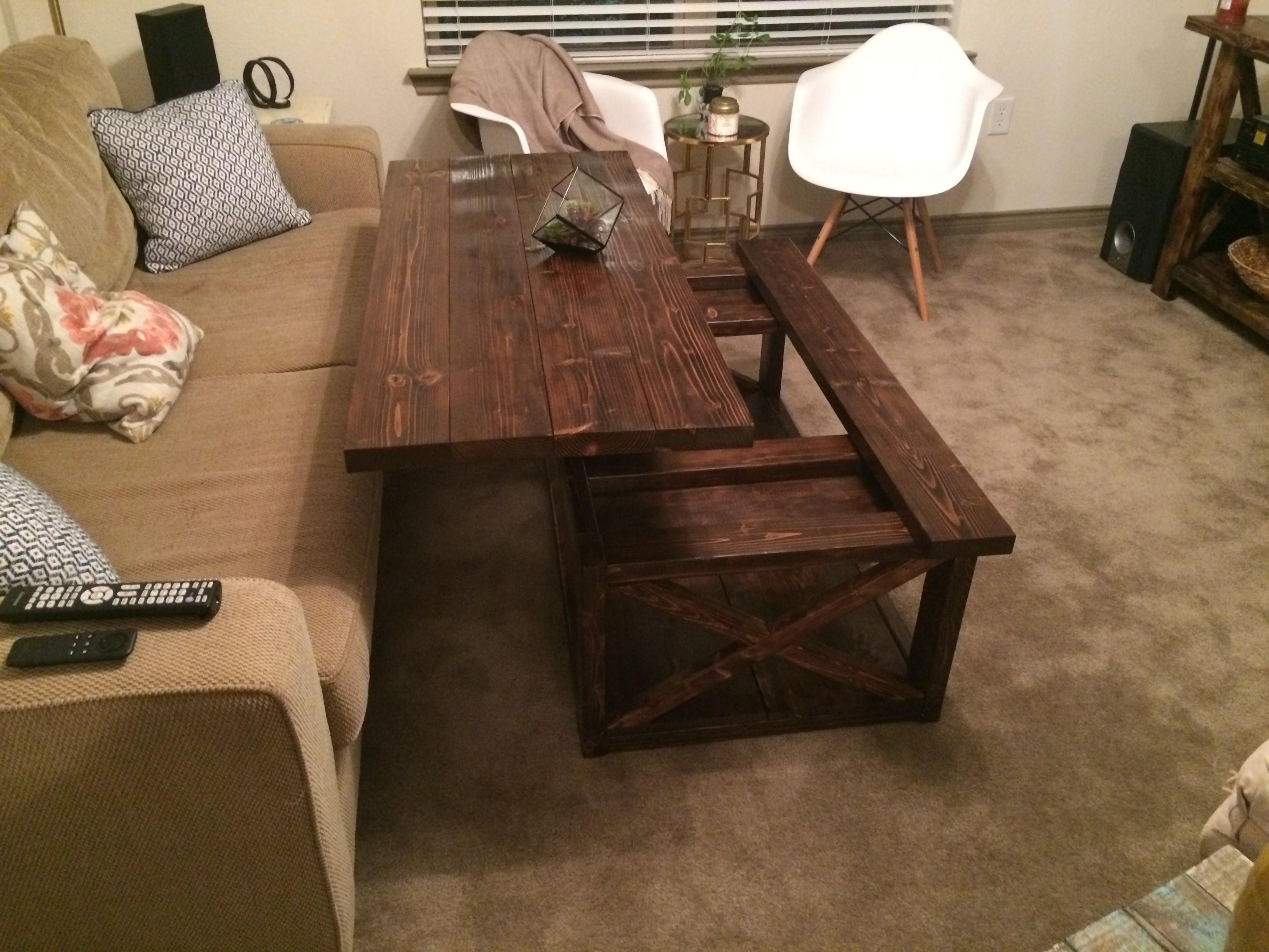 Ana White Diy Lift Top Coffee Table Rustic Style