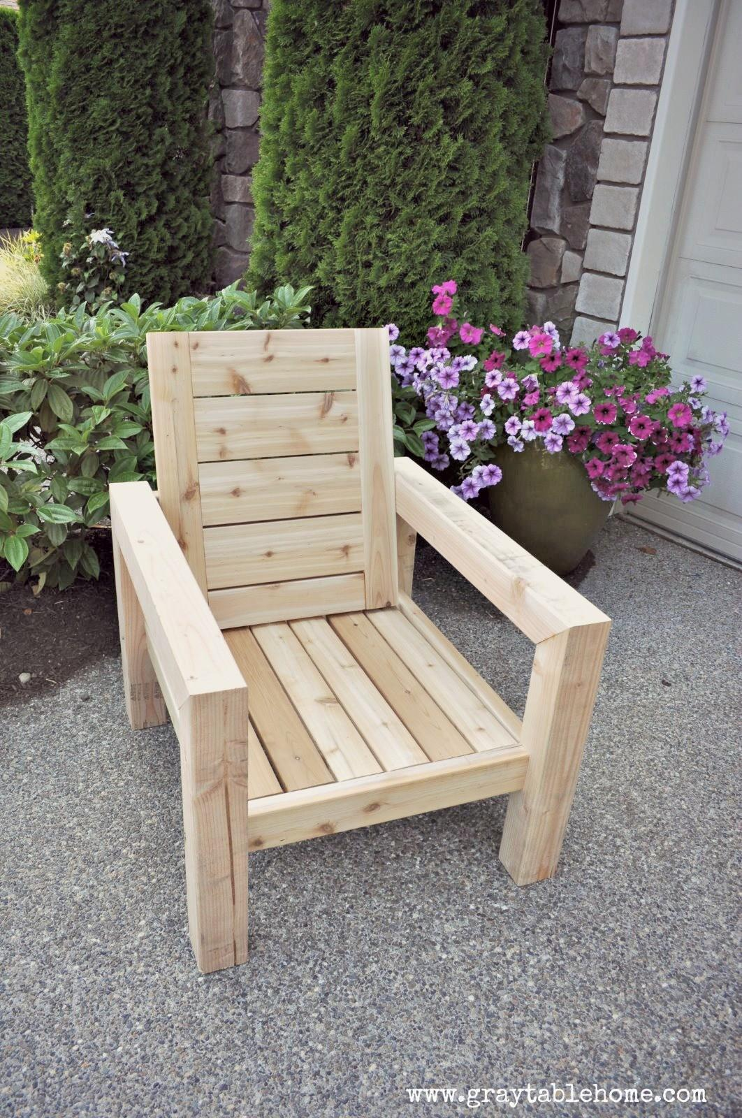 Ana White Diy Modern Rustic Outdoor Chair Projects