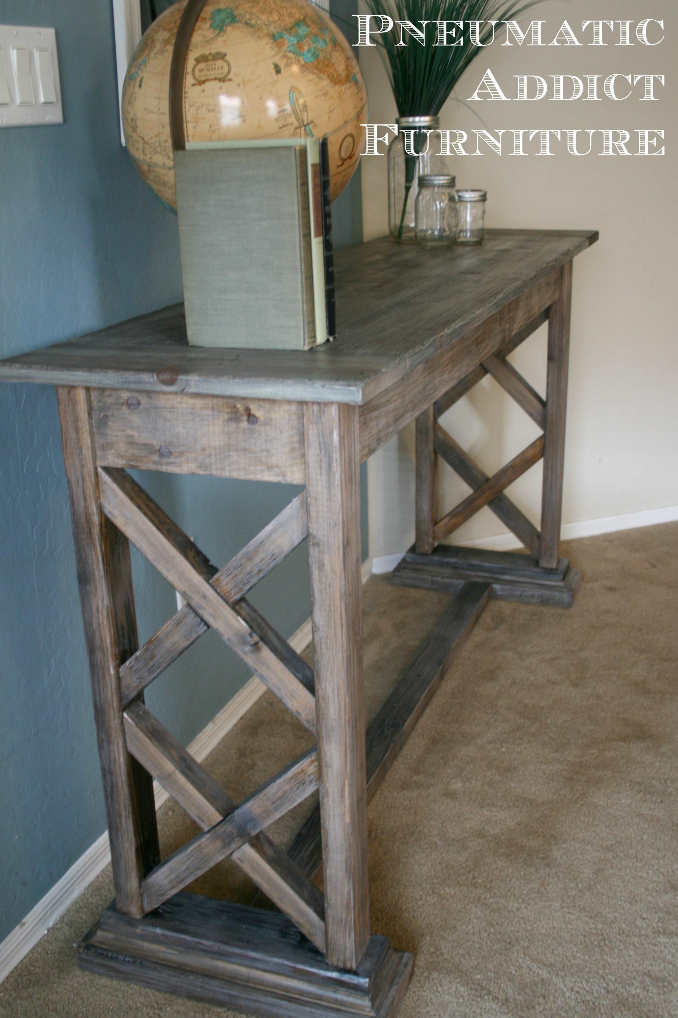 Ana White Double Trestle Console Diy Projects