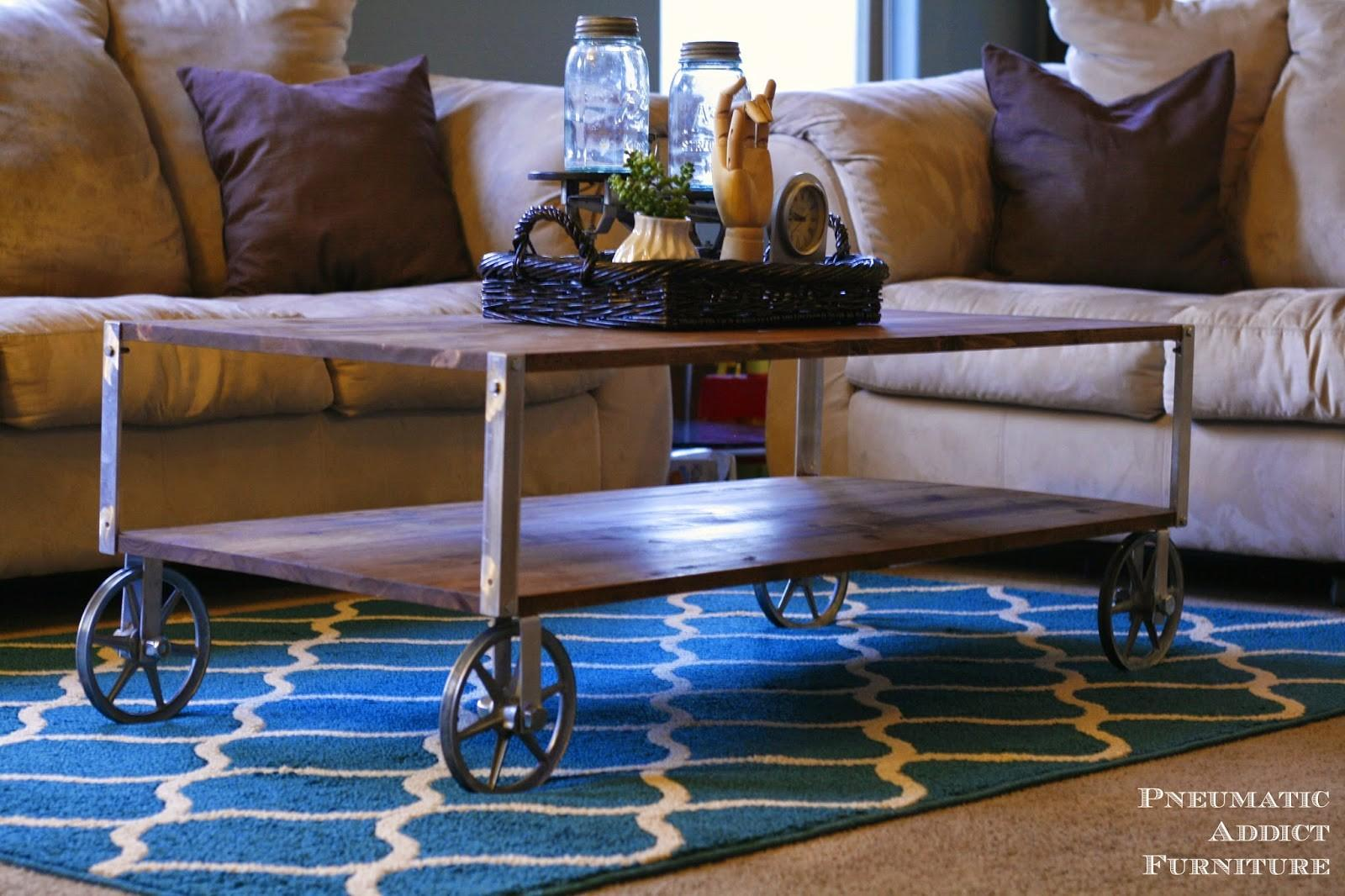 Ana White Easy Industrial Coffee Table Pneumatic